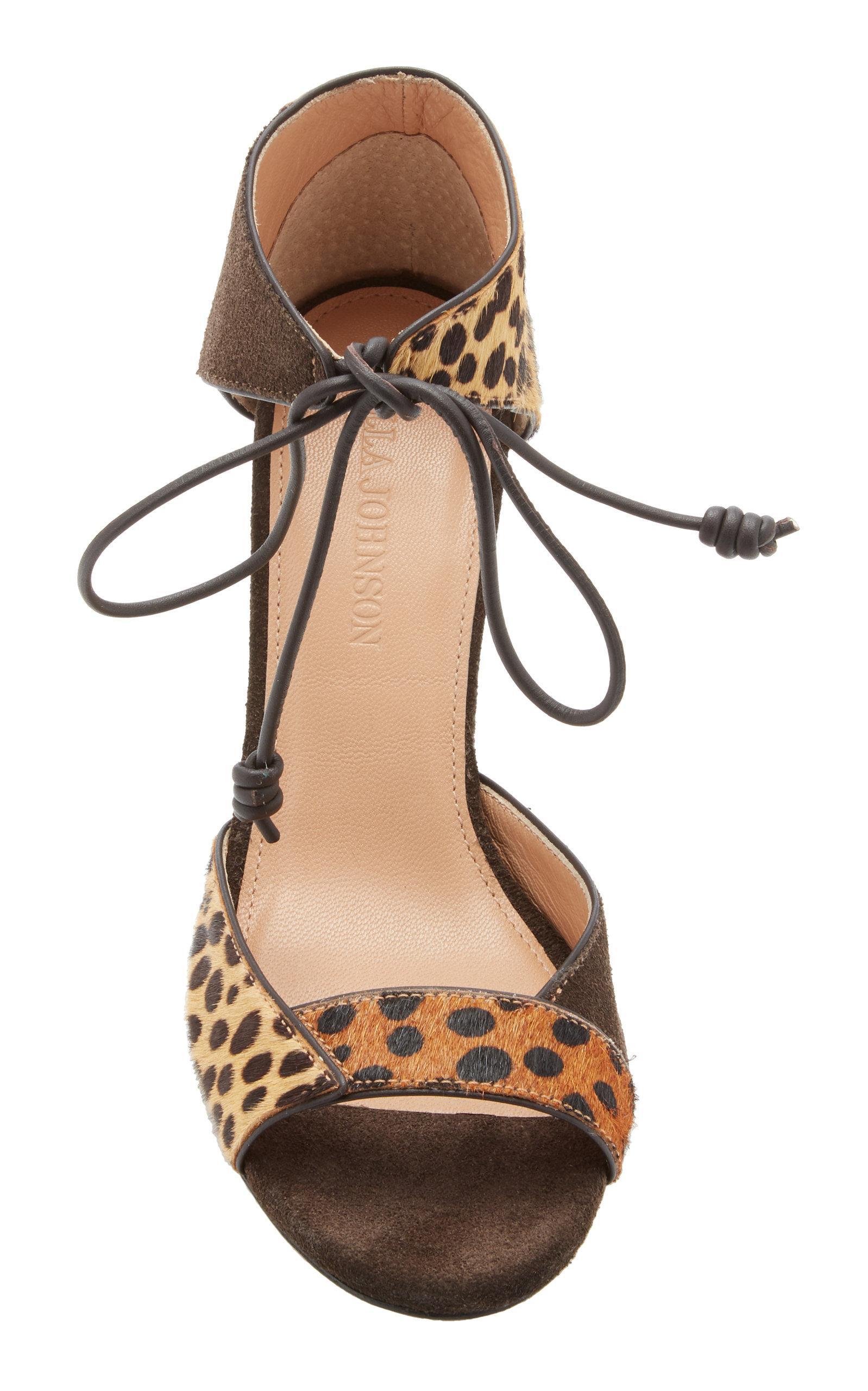 adc31528afca Ulla Johnson - Multicolor Mischa Leopard Sandals - Lyst. View fullscreen