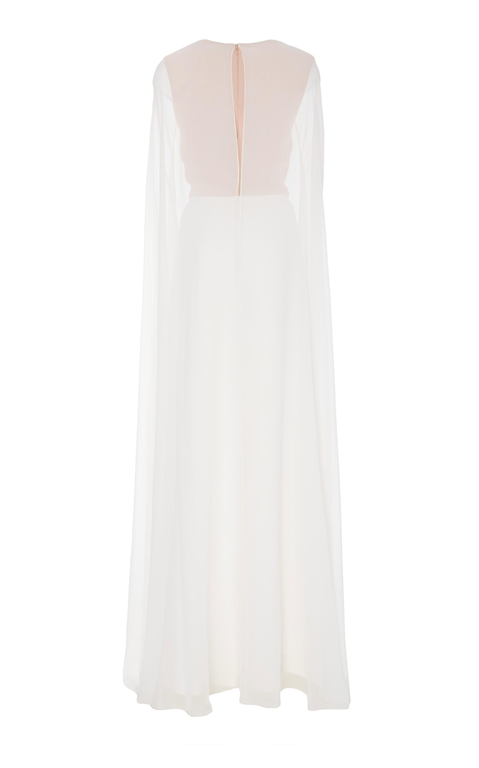 9234a6346e3 Lyst - Reem Acra Button Down Caftan Jumpsuit in White
