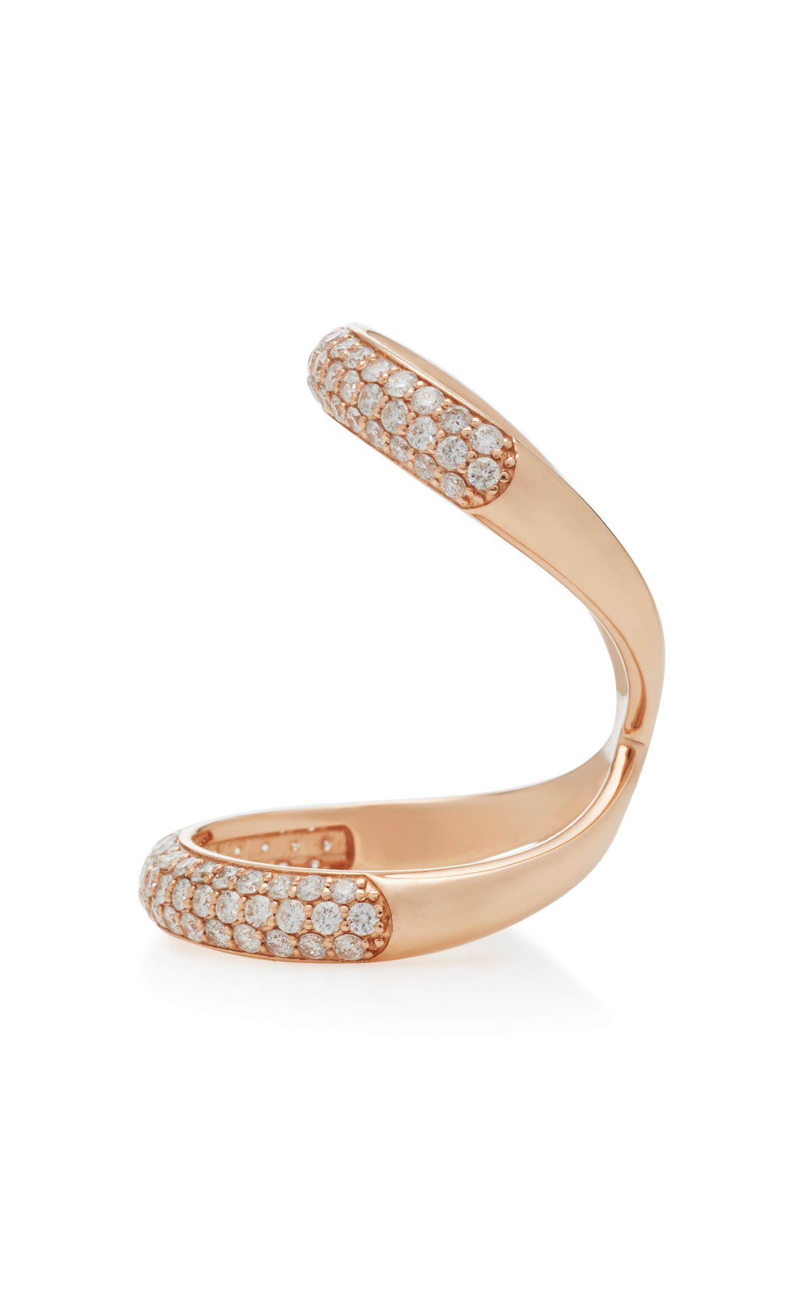 Olympus 14k De Oro Rosa Anillo De Diamantes De Carbono Y Hyde IZQpU