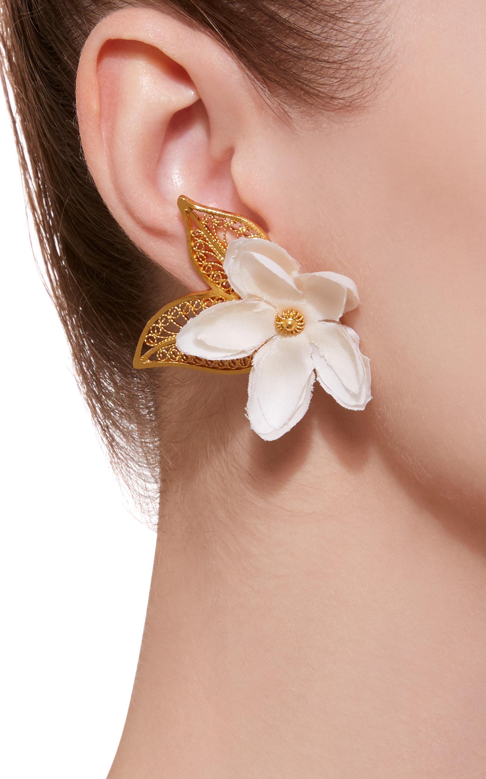 Mallarino Gaby Gold Vermeil Silk Earrings ZpsykNYs