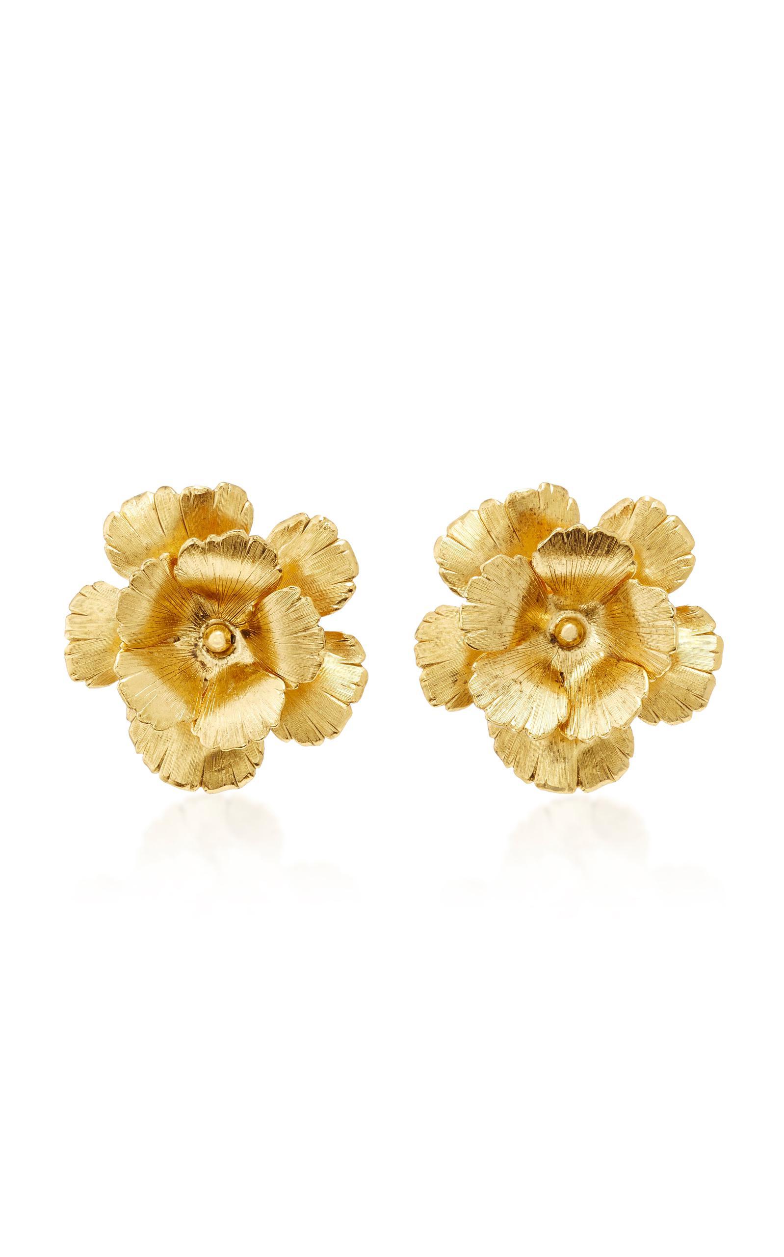 Jennifer Behr Chloe Statement Flower Earrings FcGxNOGDf