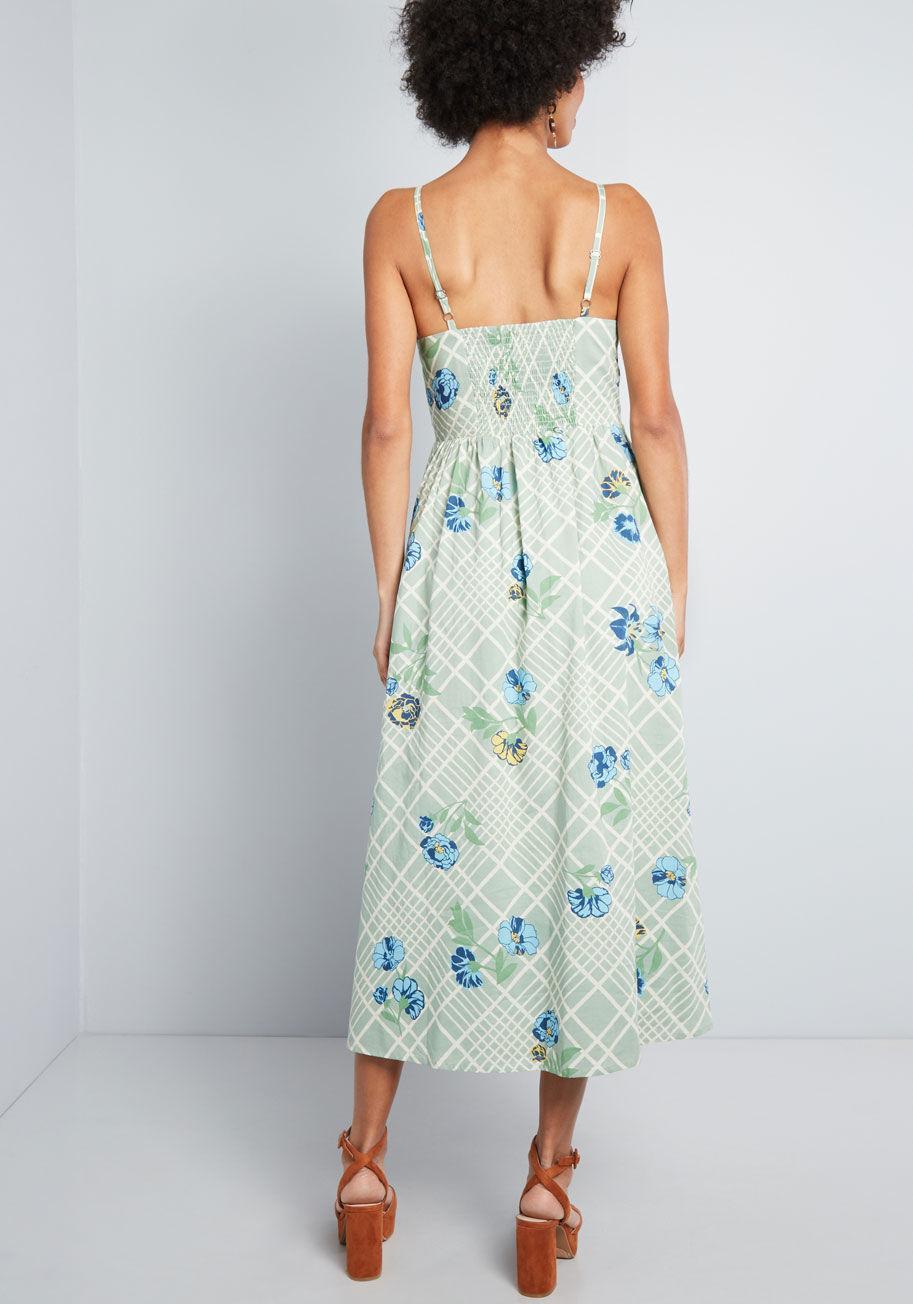06689136dac ModCloth - Green Quite Clearly Charismatic Midi Dress - Lyst. View  fullscreen