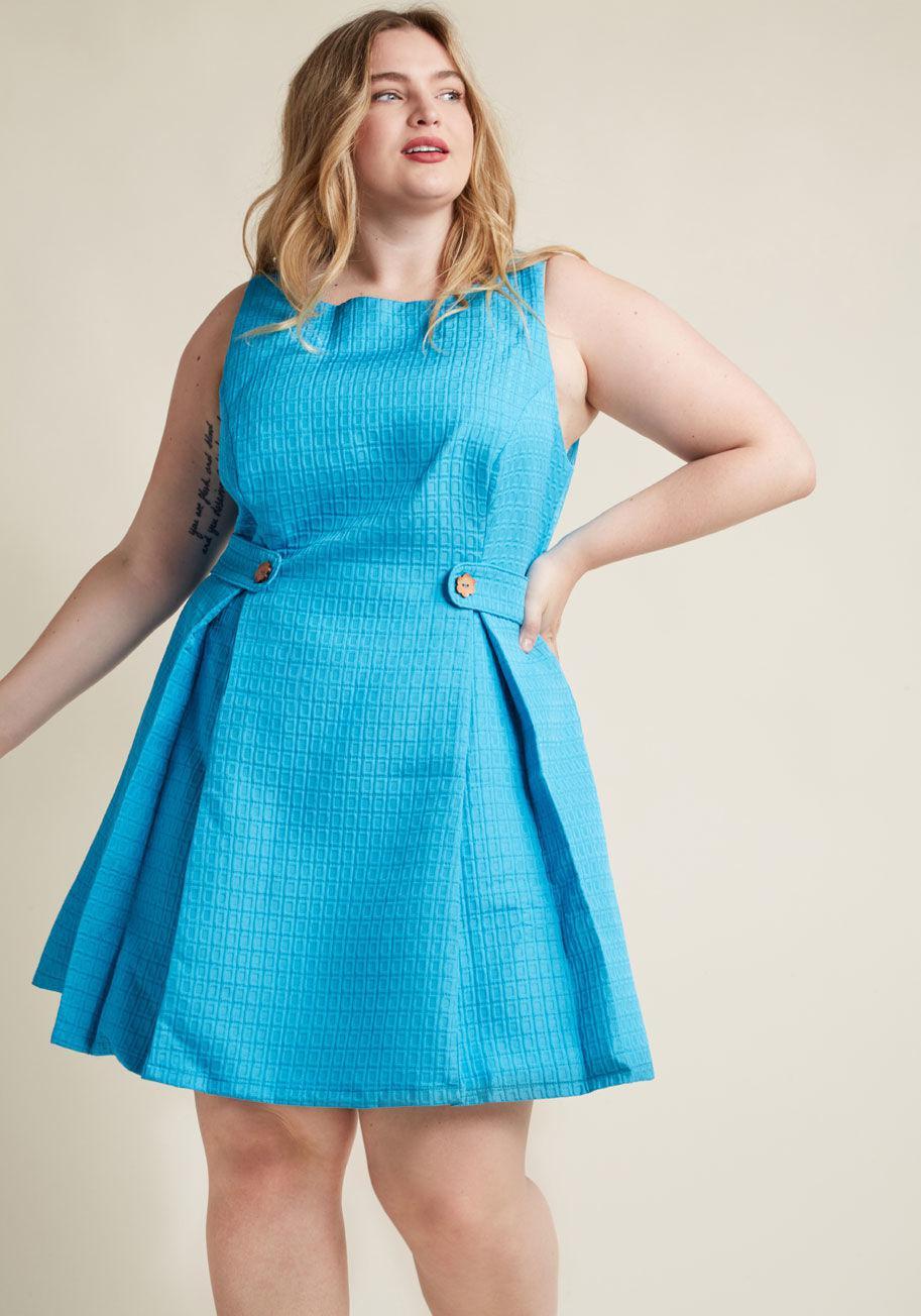 984173819b4 ModCloth So Sixties A-line Dress in Blue - Lyst