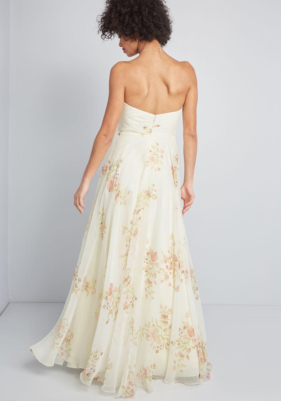 1cd09036f55 Lyst - Jenny Yoo Down The Aisle Floral Maxi Dress in White