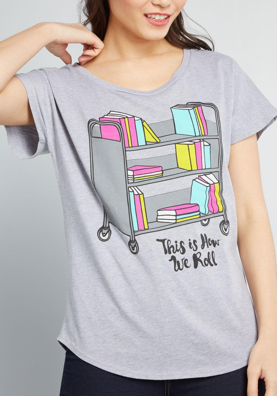e6832fe23 Lyst - Out Of Print It's Literature, Fam Graphic T-shirt in Gray