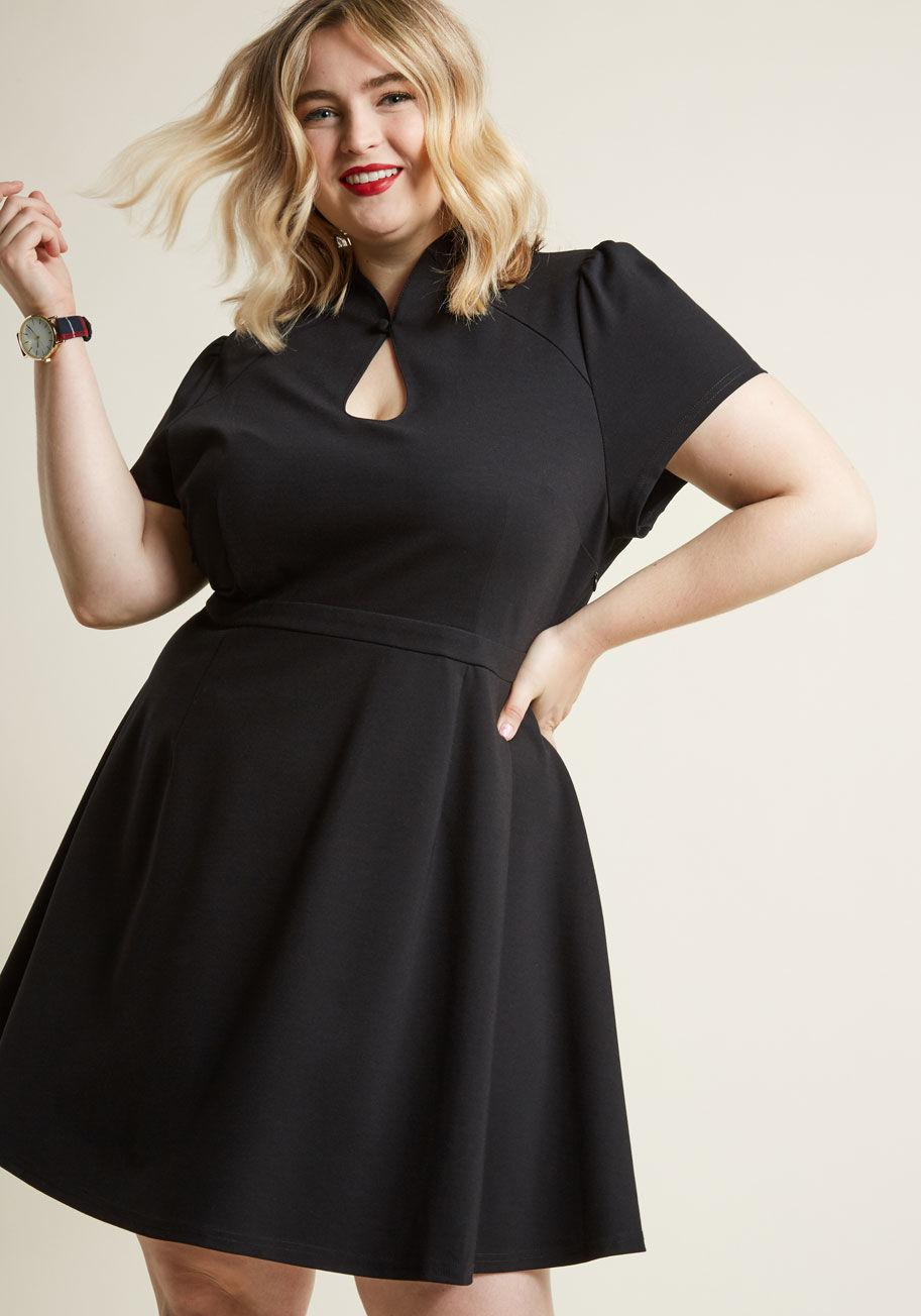 ee4ec9d474 Lyst - ModCloth High Society Style Short Sleeve Dress In Black in Black