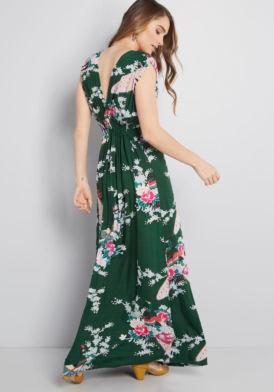 128a2751bac ModCloth - Green Feeling Serene Maxi Dress - Lyst. View fullscreen