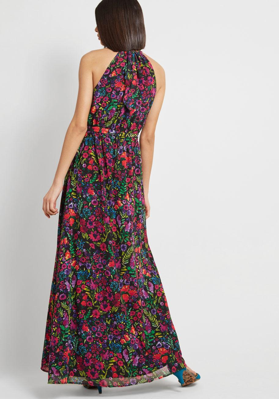 af408e73f6b ModCloth - Black Illuminated Elegance Chiffon Maxi Dress - Lyst. View  fullscreen