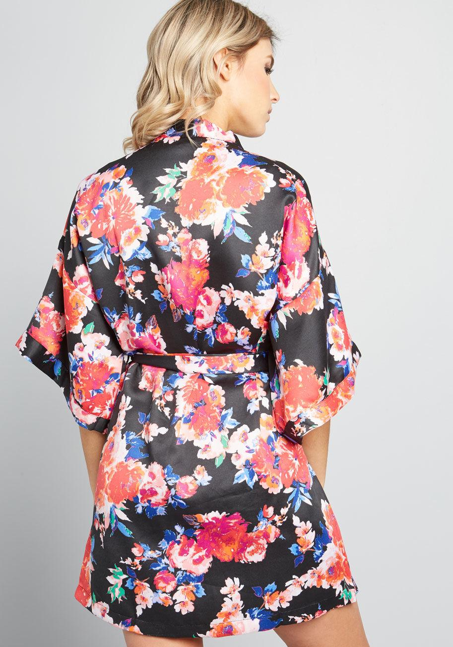 ModCloth - Black Rest Effortlessly Kimono Robe - Lyst. View fullscreen 6005328f0