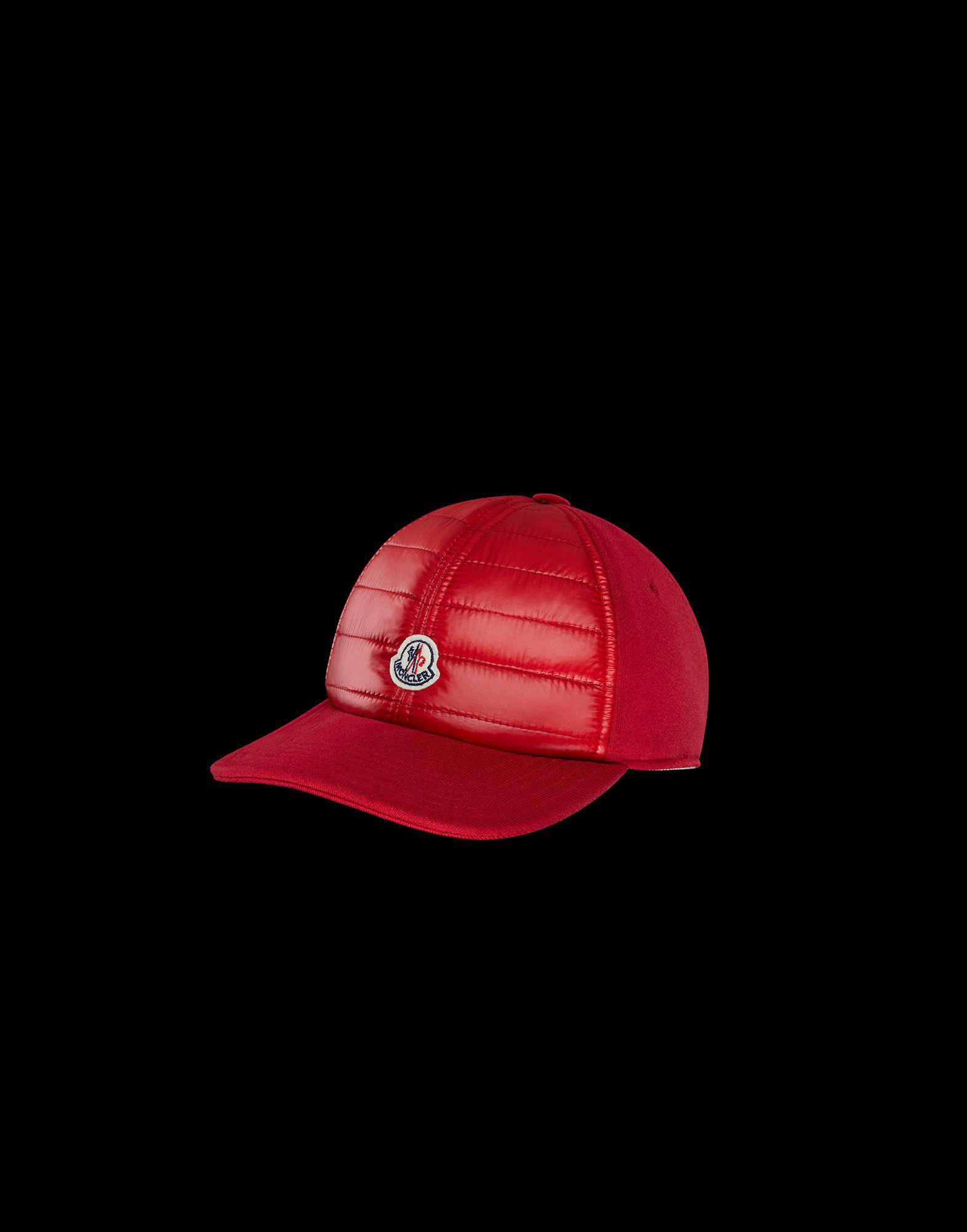 0393bfefd66e58 Moncler Hat in Red for Men - Lyst