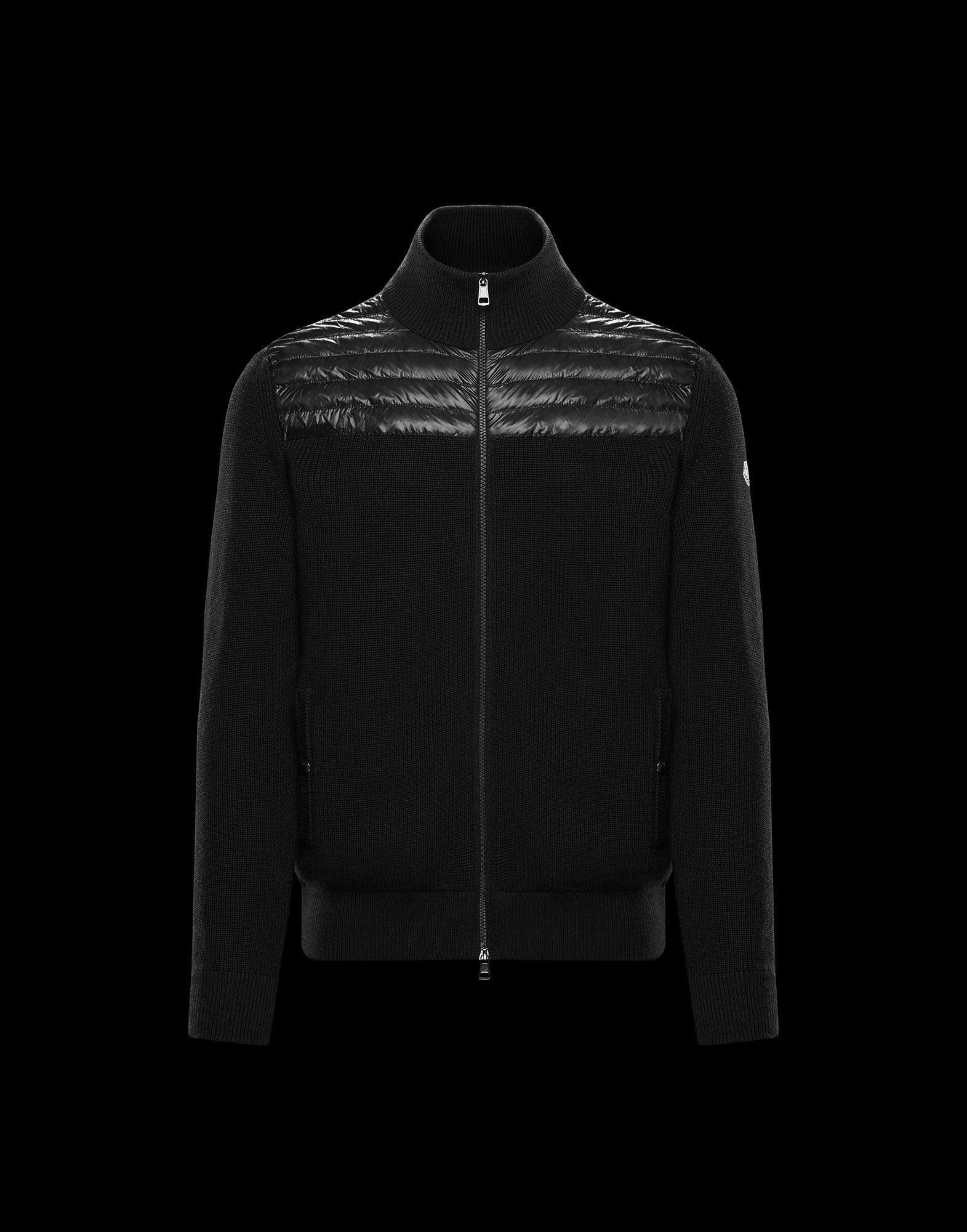 b379ea75fcb7 Lyst - Moncler Cardigan in Black for Men