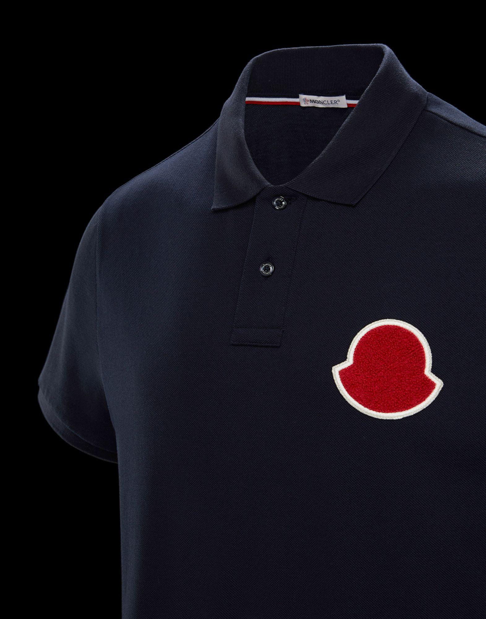 a3f40bbee9575 Moncler Polo in Blue for Men - Lyst