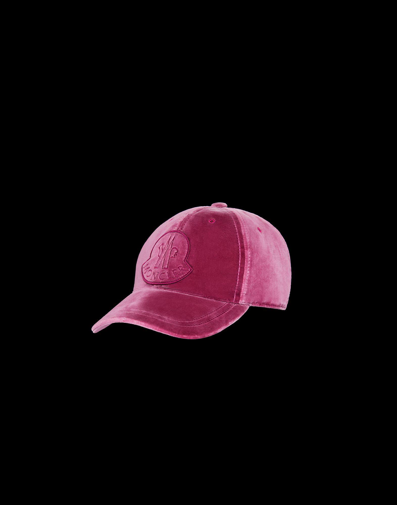 c1ff514860e Moncler Hat in Purple - Lyst