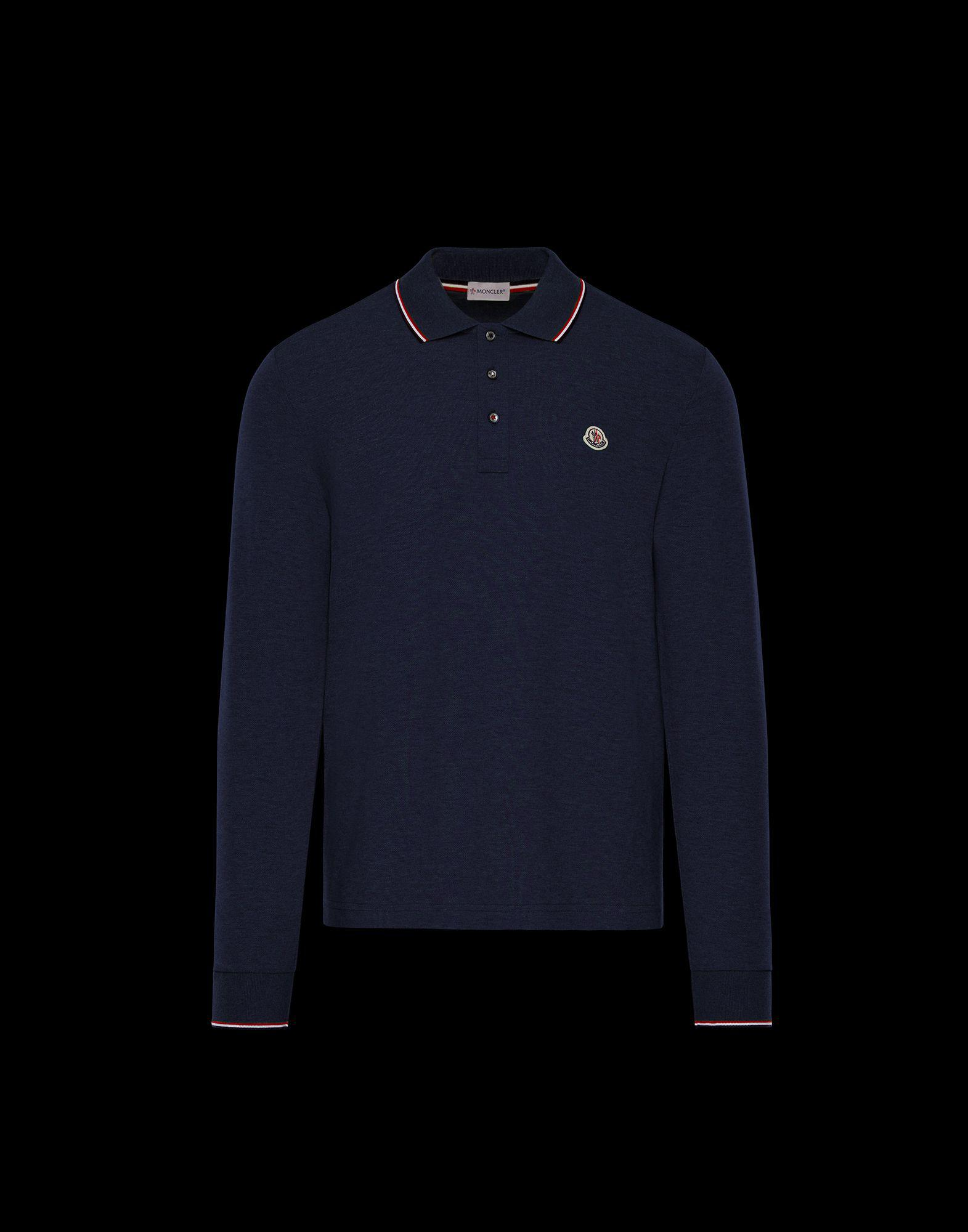 7789fa3c7adc Moncler Polo Shirt in Blue for Men - Lyst