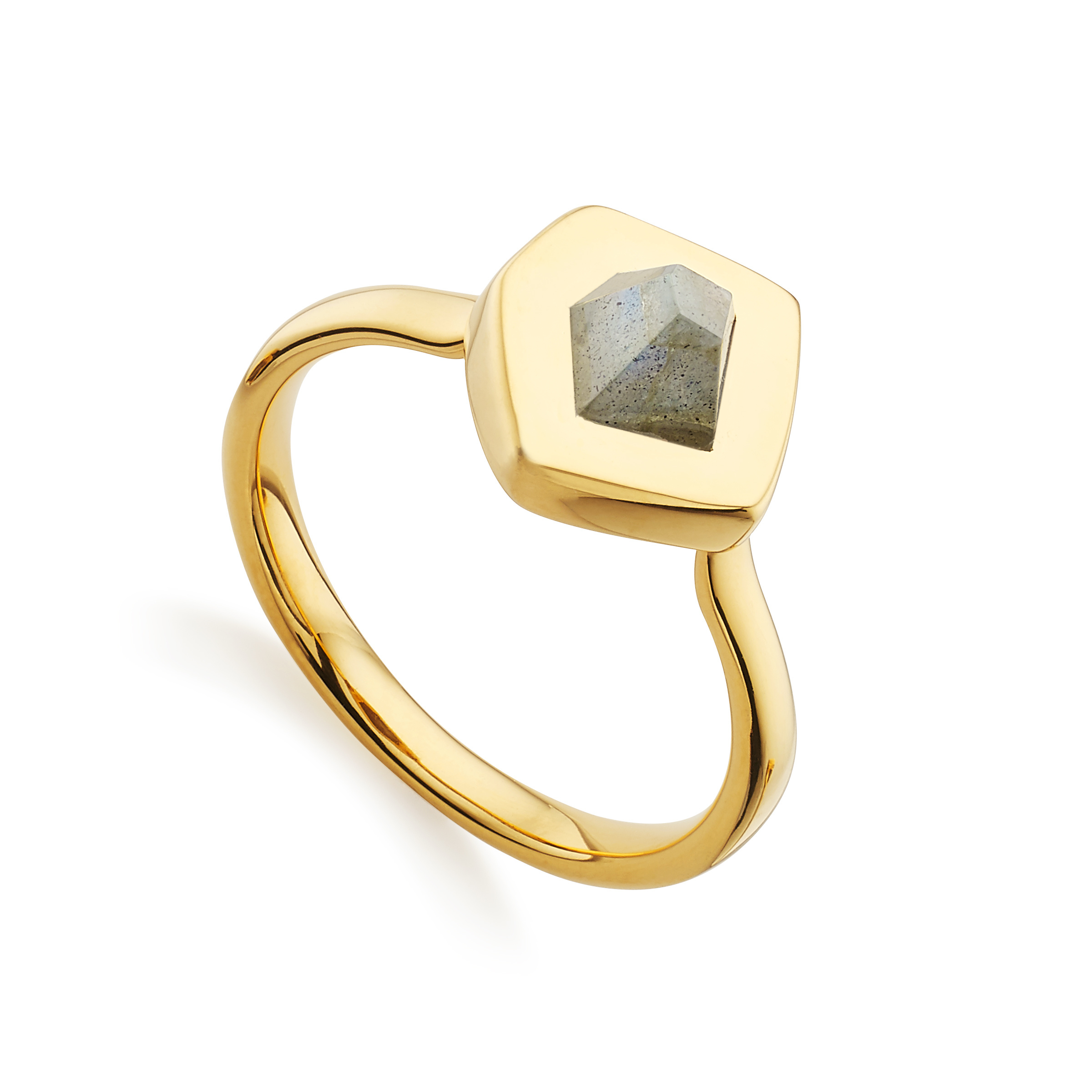 Monica vinader Petra Stacking Ring in Multicolor