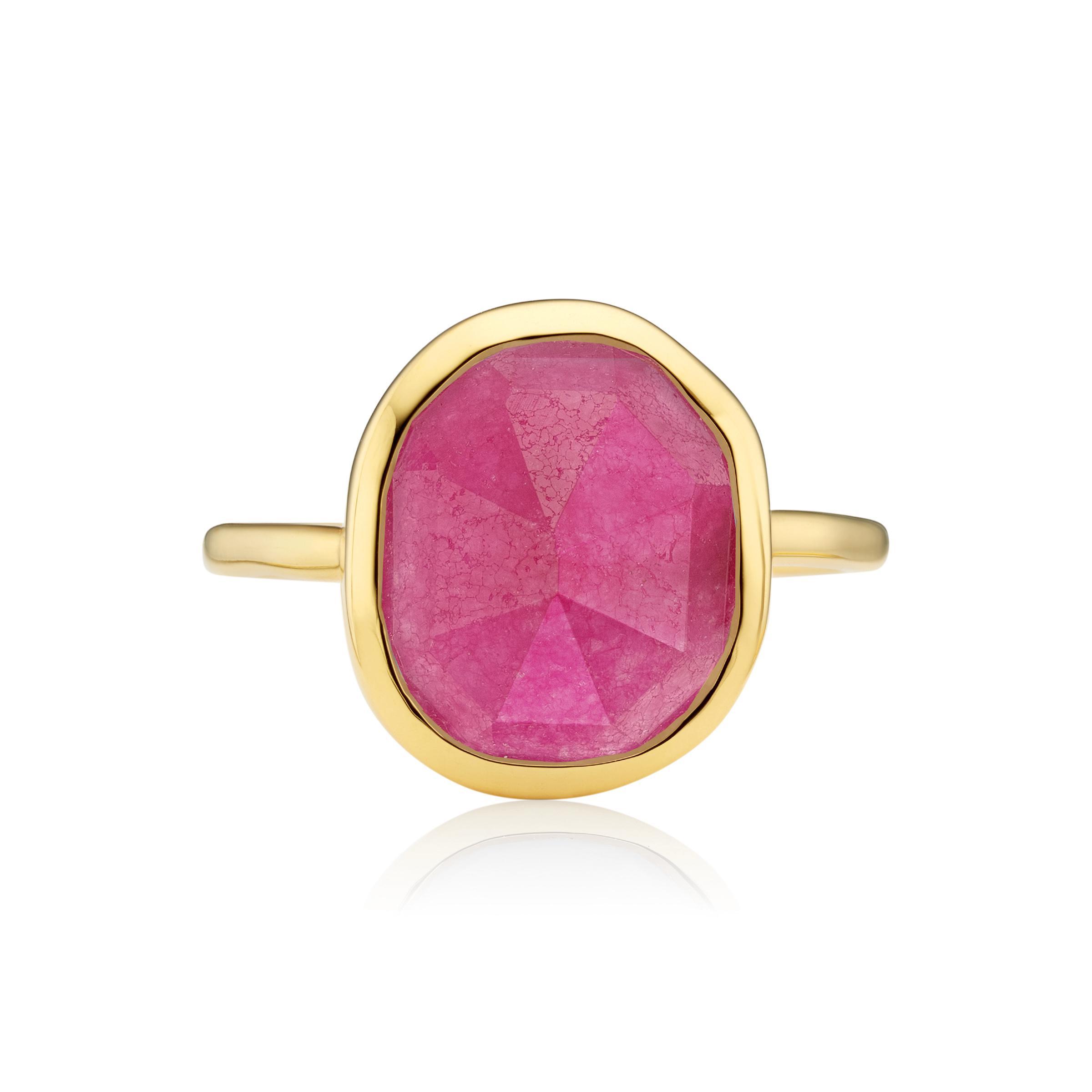 Lyst - Monica Vinader Siren Medium Stacking Ring in Pink