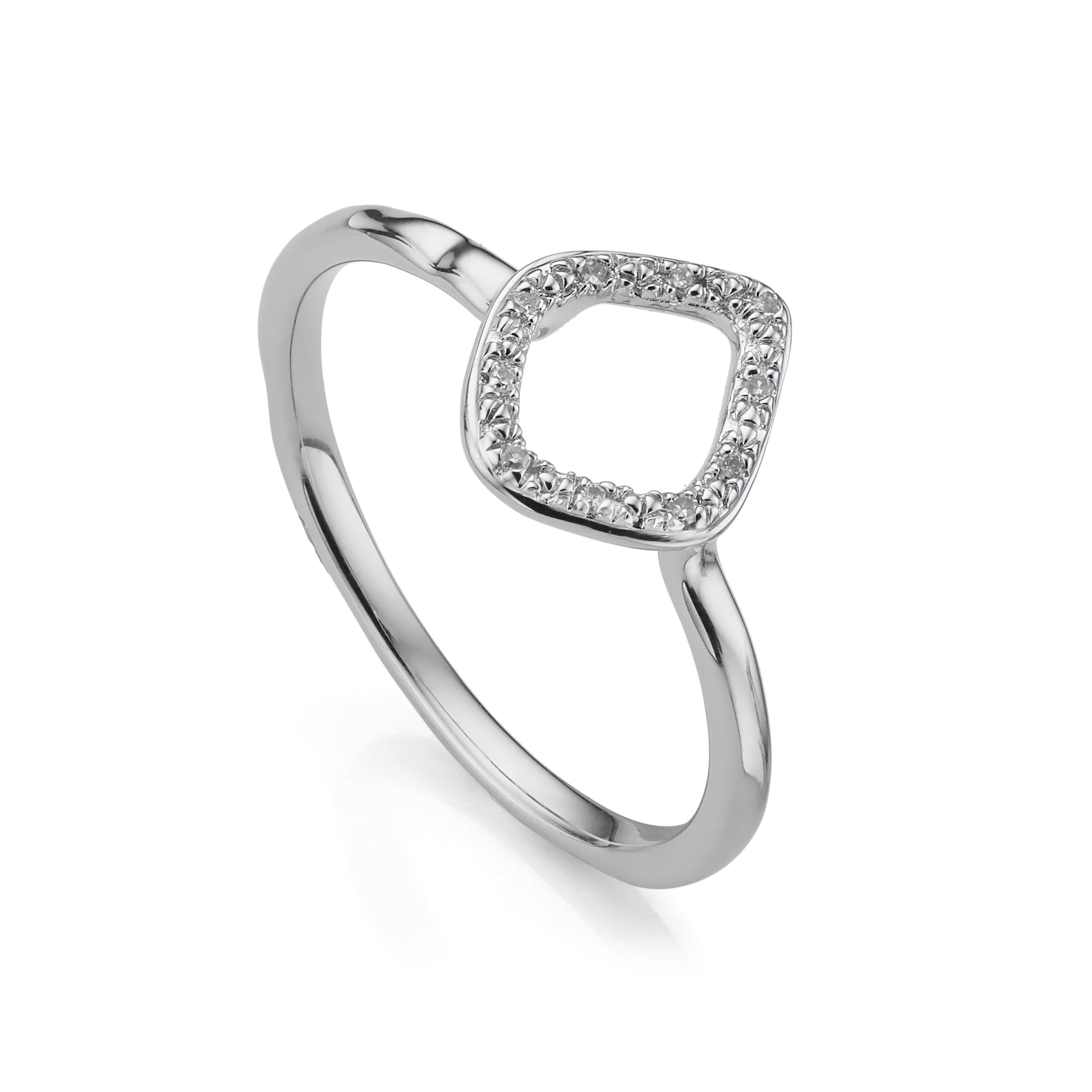 Riva Mini Circle Rose Gold Vermeil Diamond Ring - M Monica Vinader FCxjf6B591