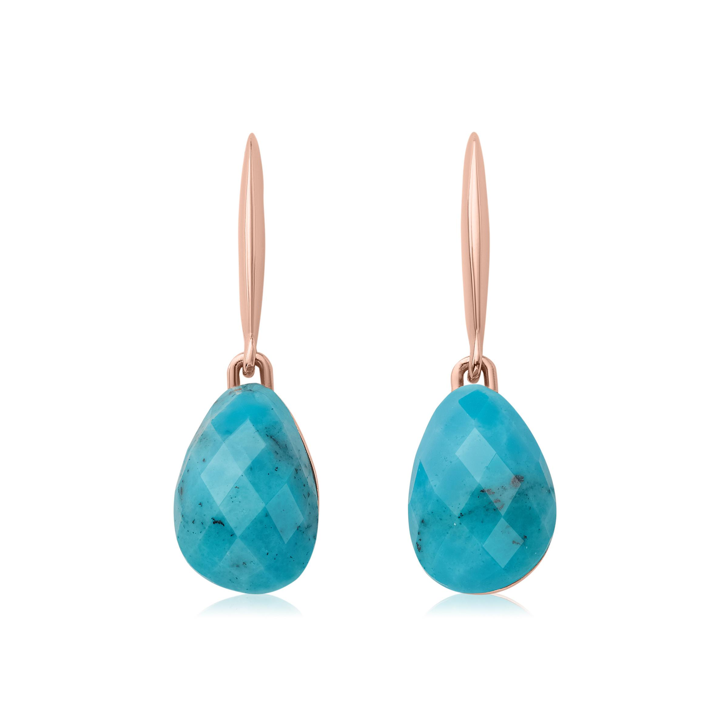 Rose Gold Nura Nugget Stud Earrings Turquoise Monica Vinader kUE8h