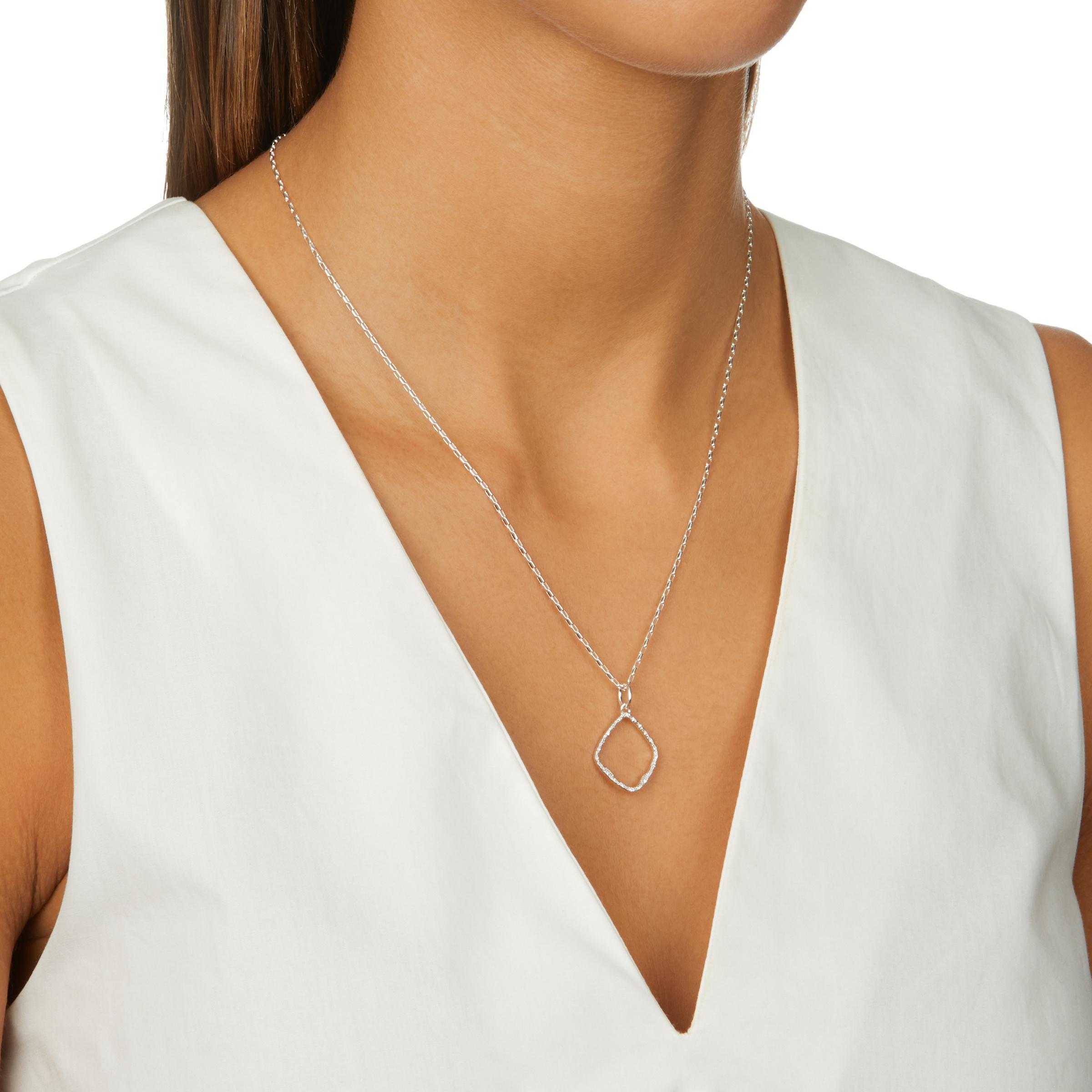 89a172b07fbbbe Monica Vinader - Metallic Riva Hoop Diamond Pendant Charm - Lyst. View  fullscreen