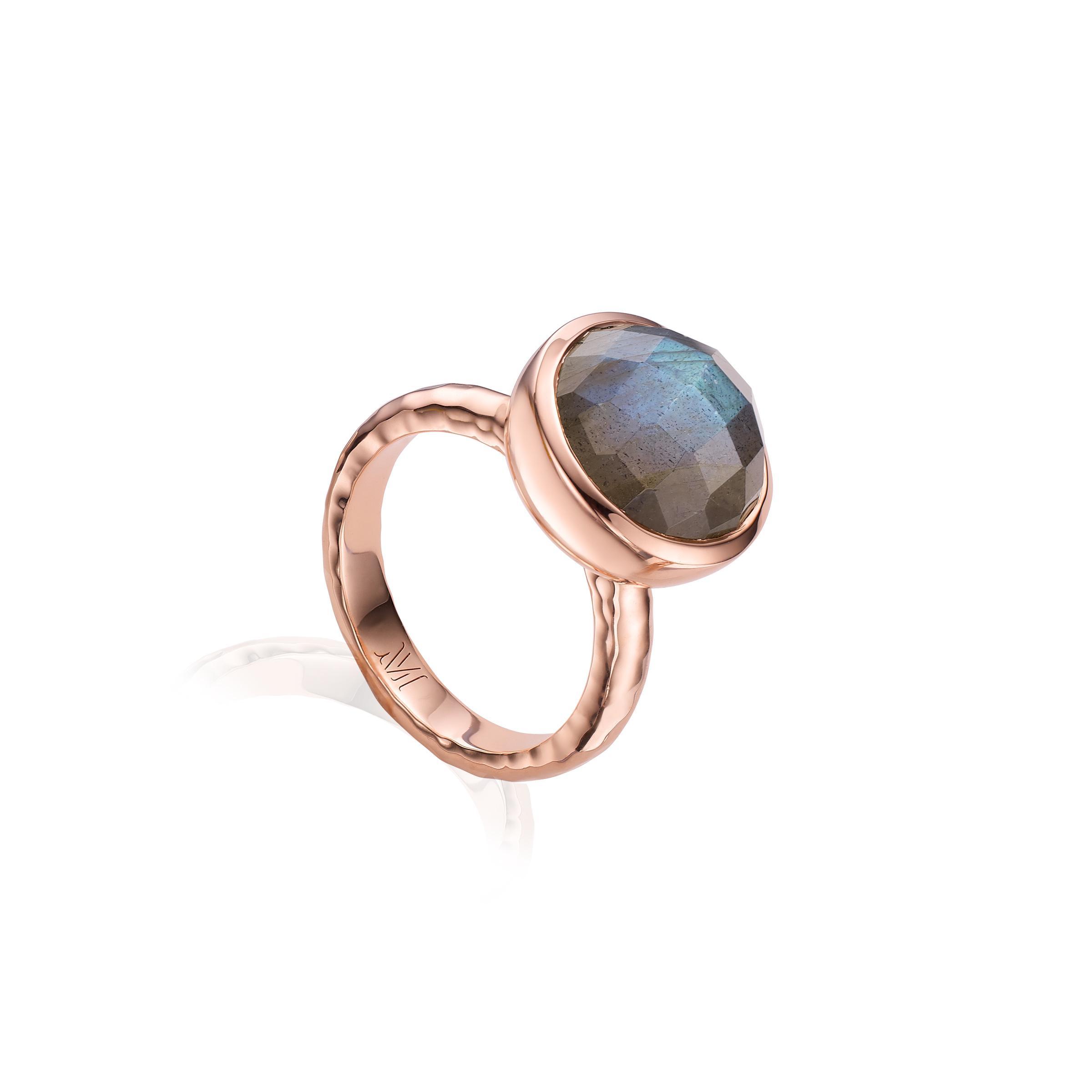 aa79dde7c6d Lyst - Monica Vinader Medina Facet Ring in Gray