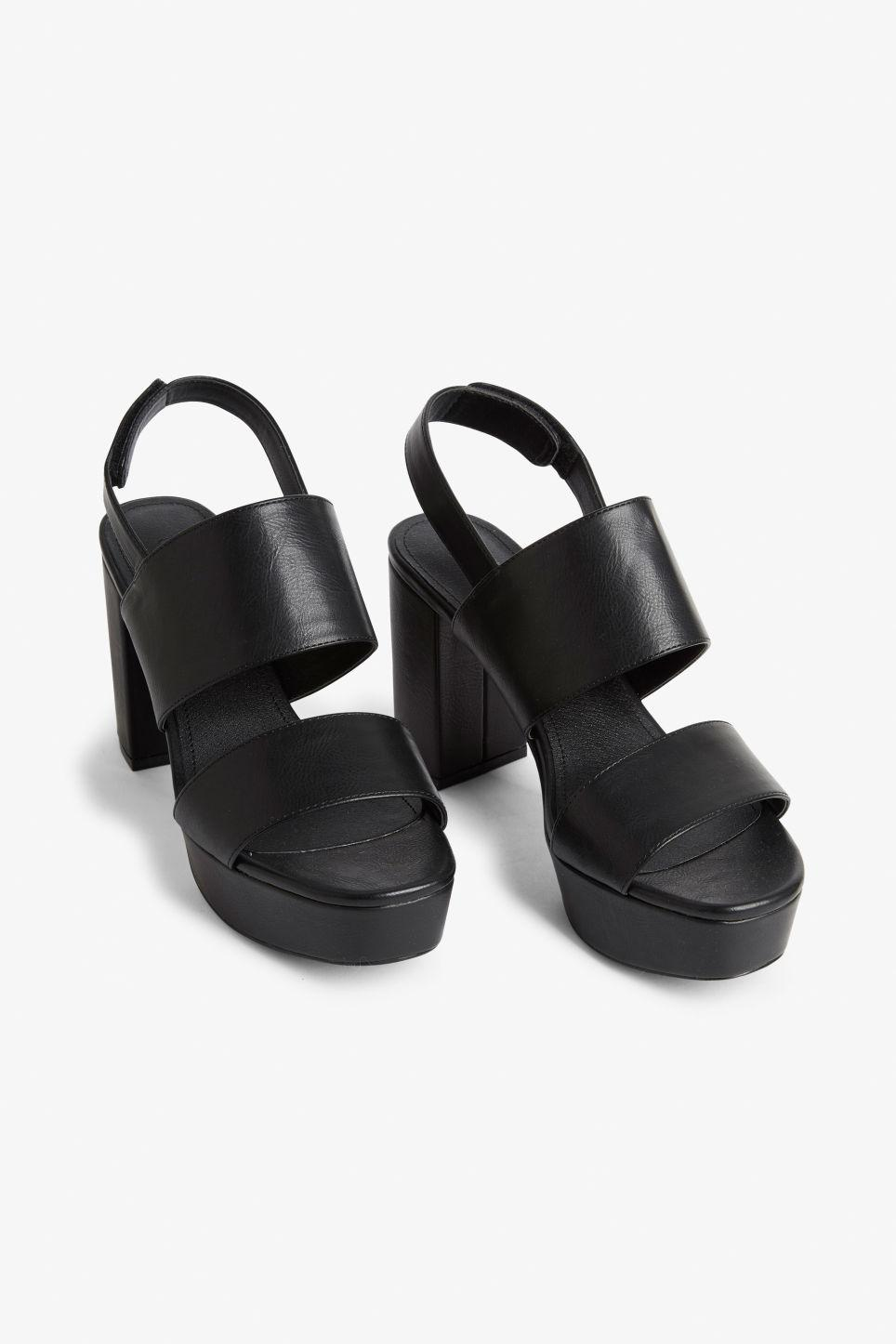 a8168f7e4cf5 Monki Platform Heels in Black - Lyst