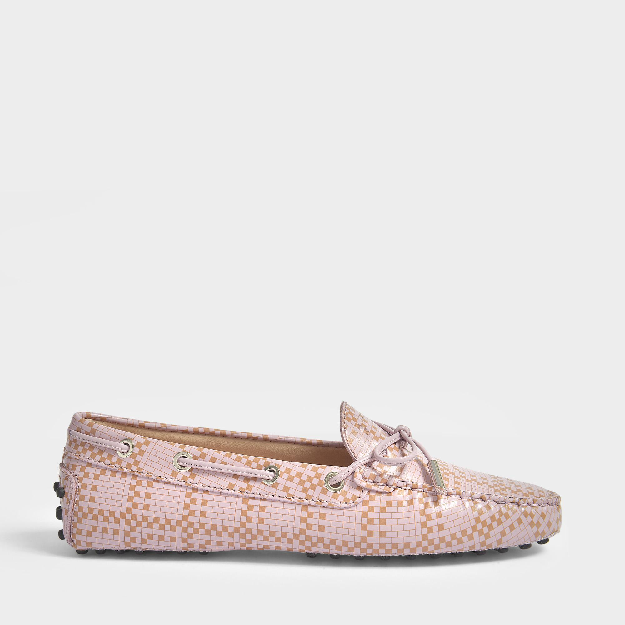 Gommino Scooby Doo Moccasins in Pink Printed Calfskin Tod's Vk1zFycN