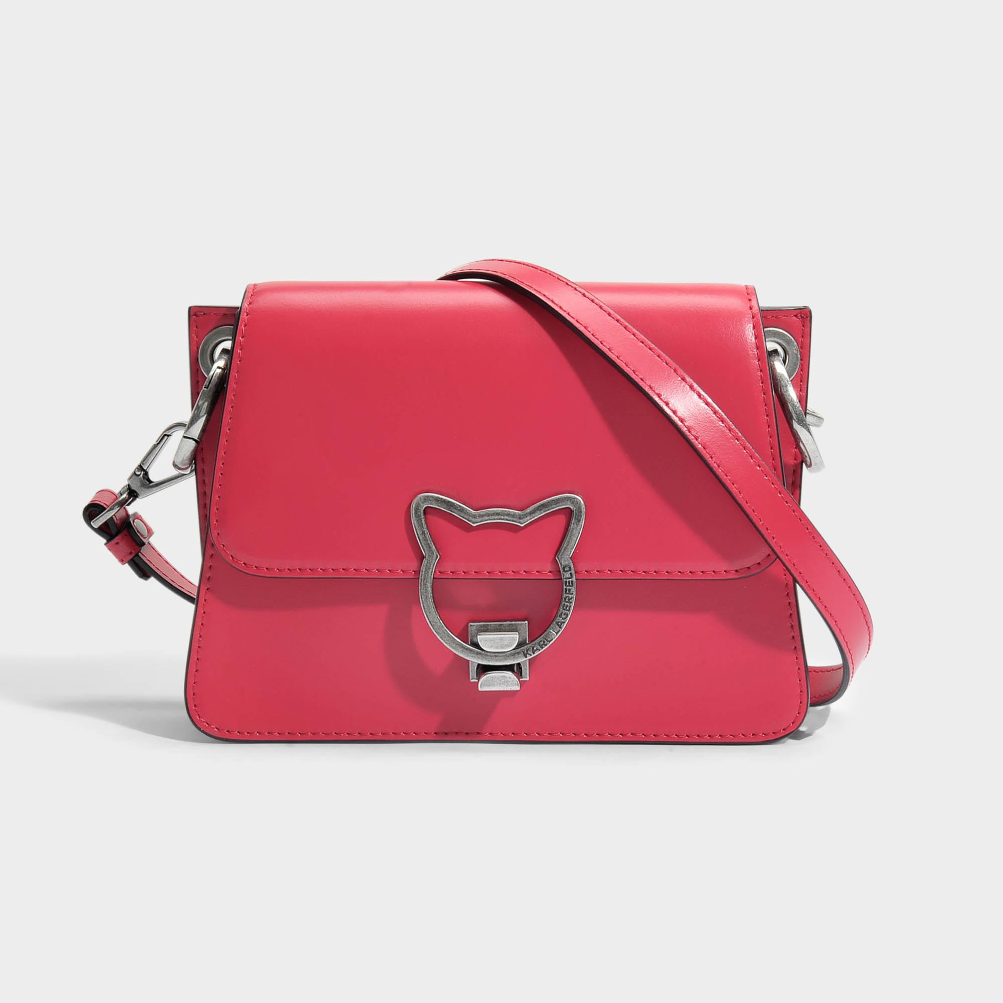 Lyst Karl Lagerfeld Kat Lock Crossbody Bag In Pink