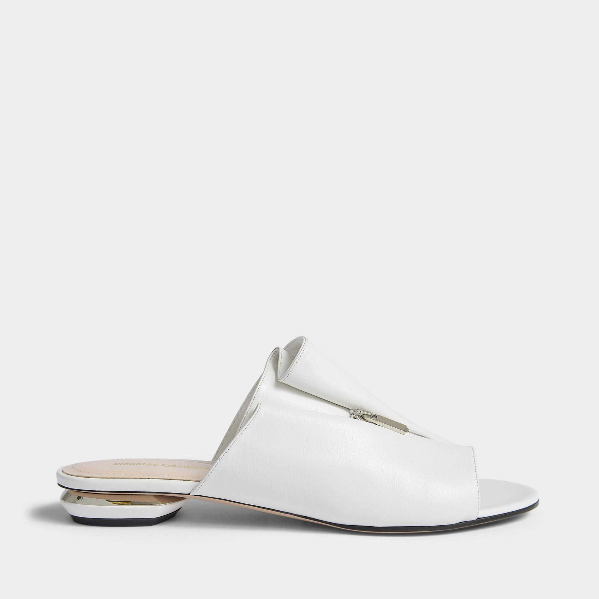Nicholas Kirkwood Designer Shoes, 18mm Leather Kristen Mules