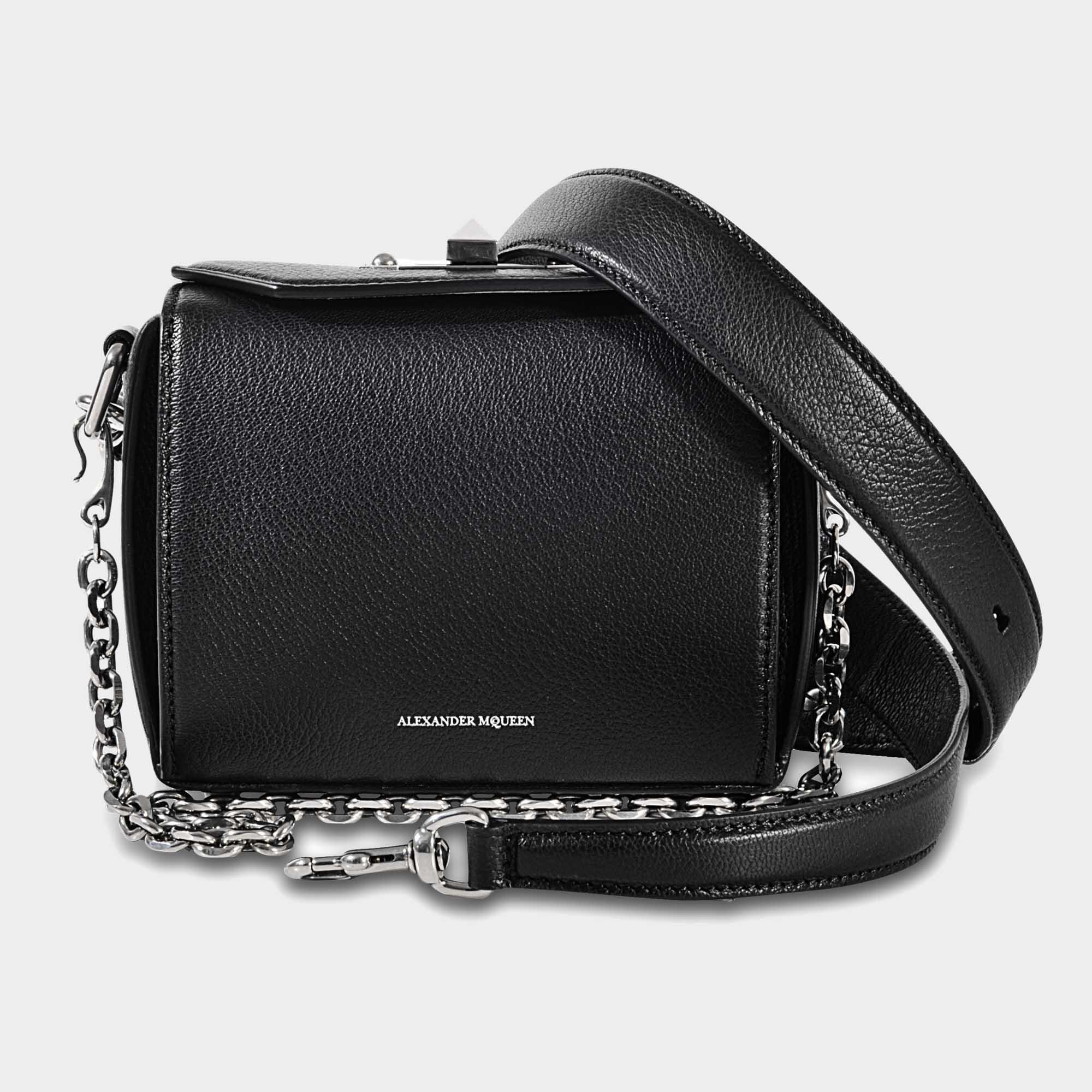 5528a9820b Lyst - Sac box 15 Alexander McQueen en coloris Noir