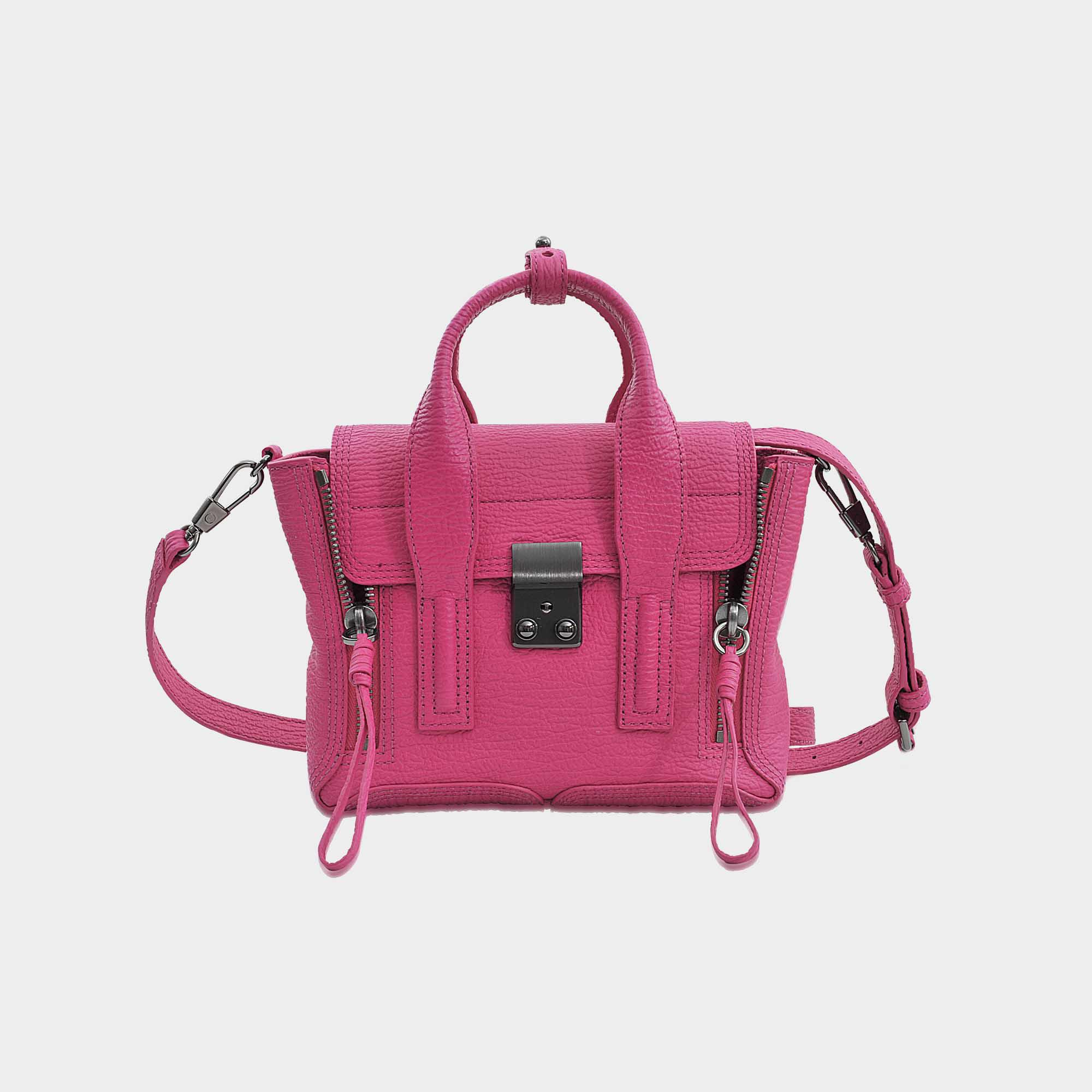 Mini Pashli Satchel Bag in Bright Fuchsia Shark Embossed Cow 3.1 Phillip Lim VhNwFYP