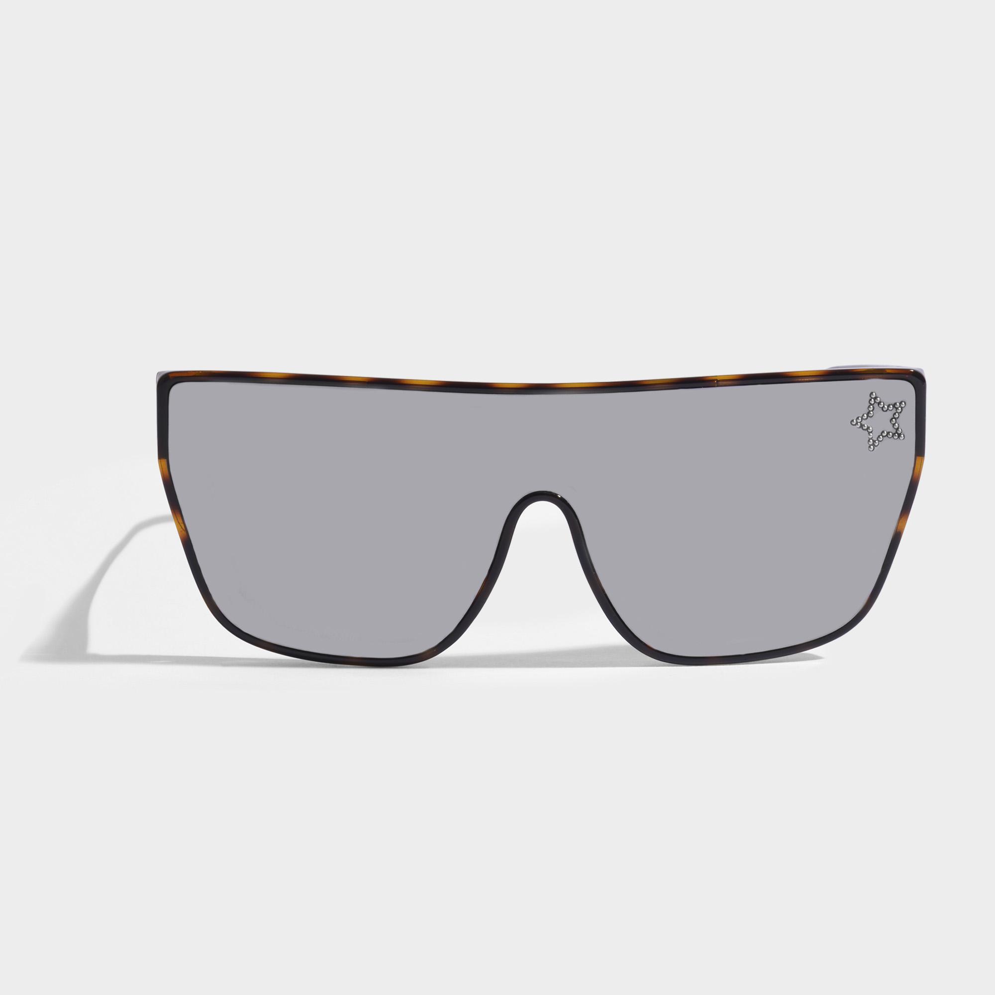 Stella McCartney Bio-injected Sonnenbrille aus Havana Bio-Acetat GqY4t