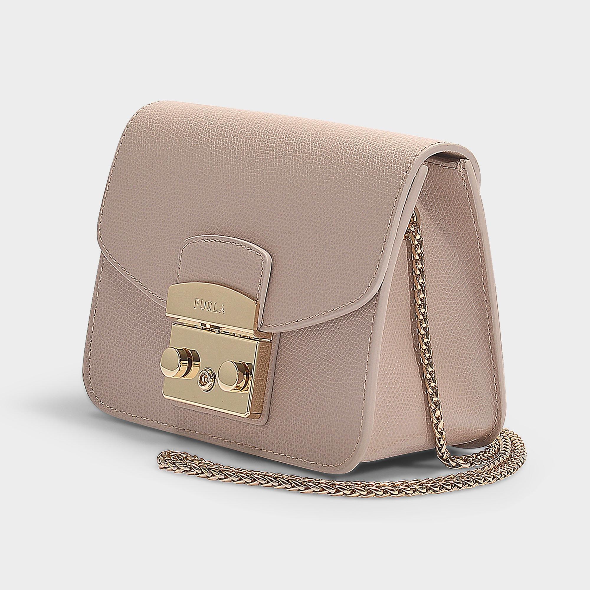 9d75f5154e1b0 Lyst - Furla Metropolis Mini Crossbody Bag In Dalia in Natural ...