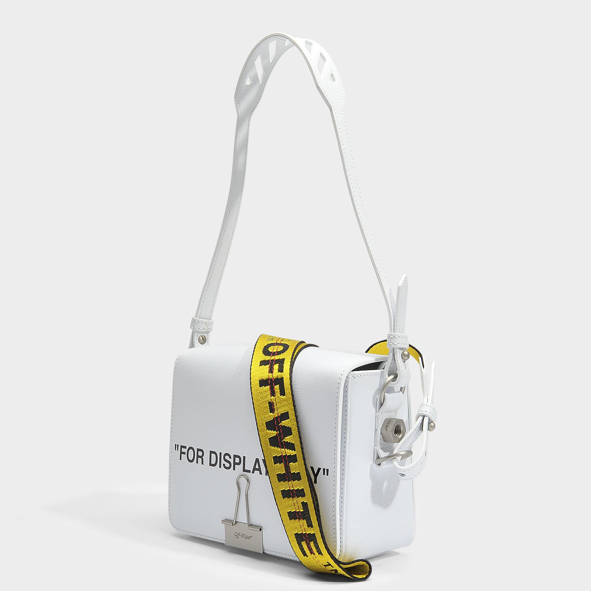 OFF WHITE Sac à rabat 'For Display Only' xPXlzvp9An