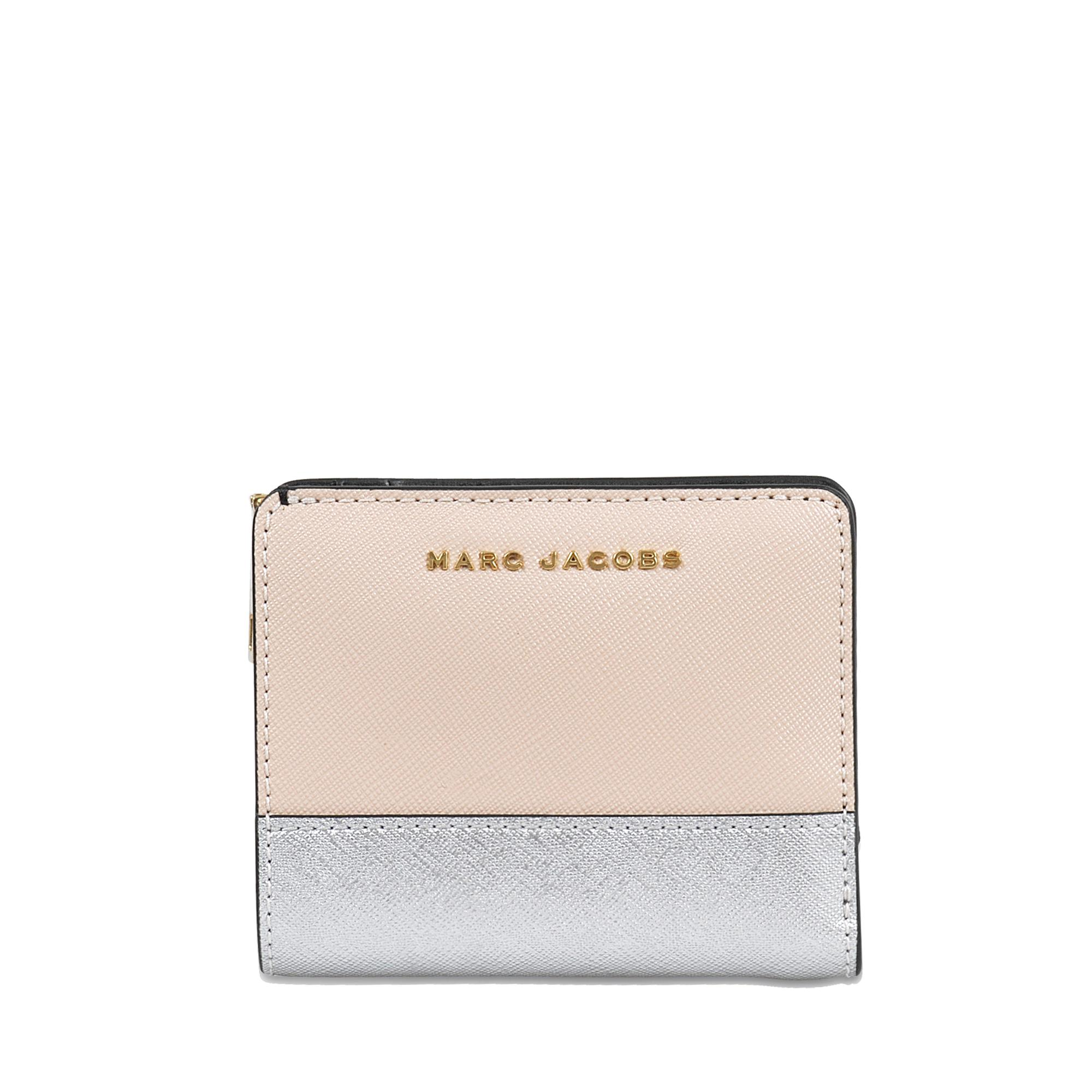 81c1db02a Marc Jacobs Color Blocked Mini Compact Wallet - Lyst