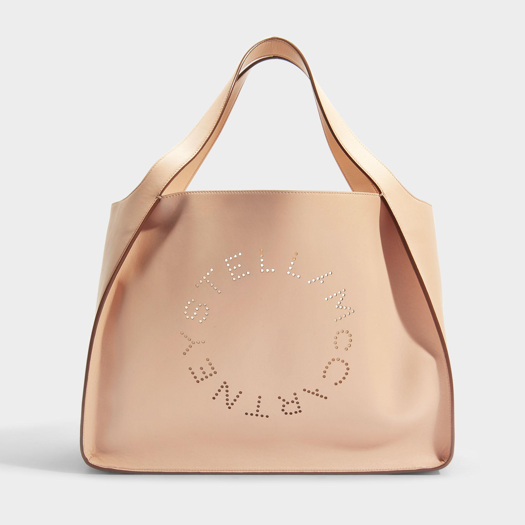 Stella McCartney Tote Bag Stella Logo en Eco-Cuir Blanc lED9aqtWv