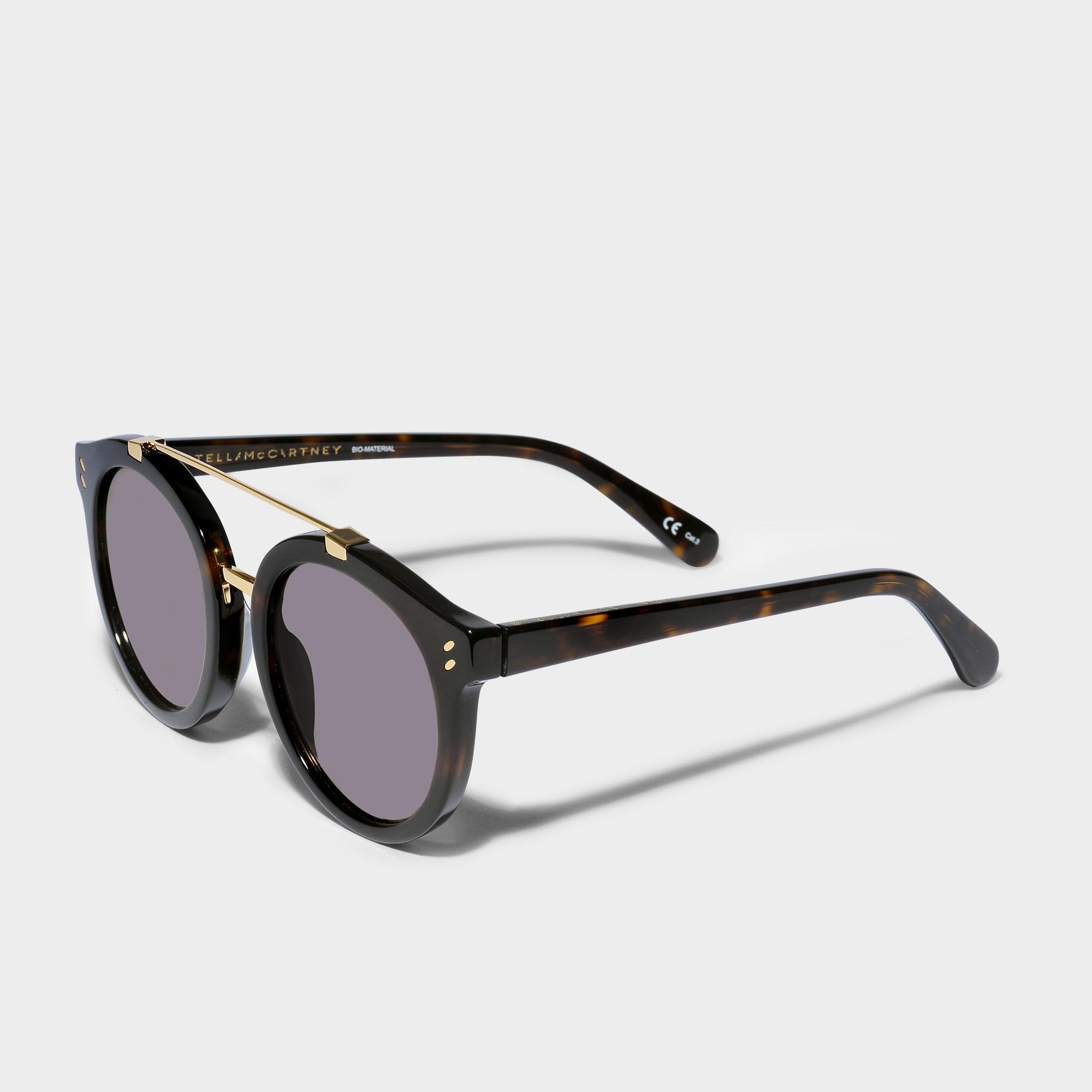 Stella McCartney Sonnenbrille aus Havana Bio-Acetat und Metall 6VsH9Vl