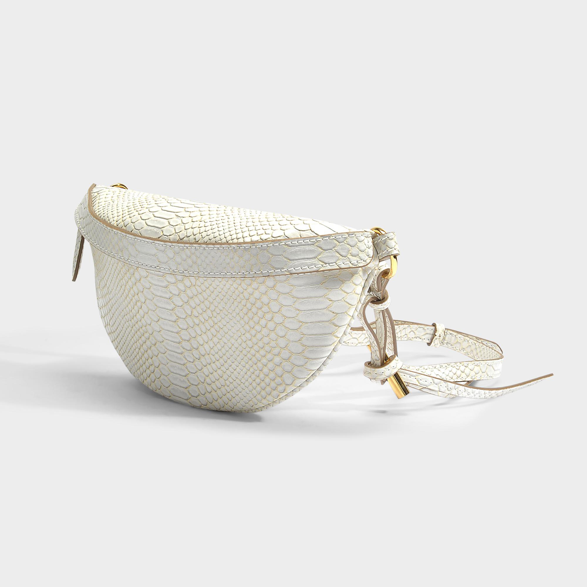 Alter Snake Small Bum Bag in Ivory Eco Leather Stella McCartney XErl7xGcev