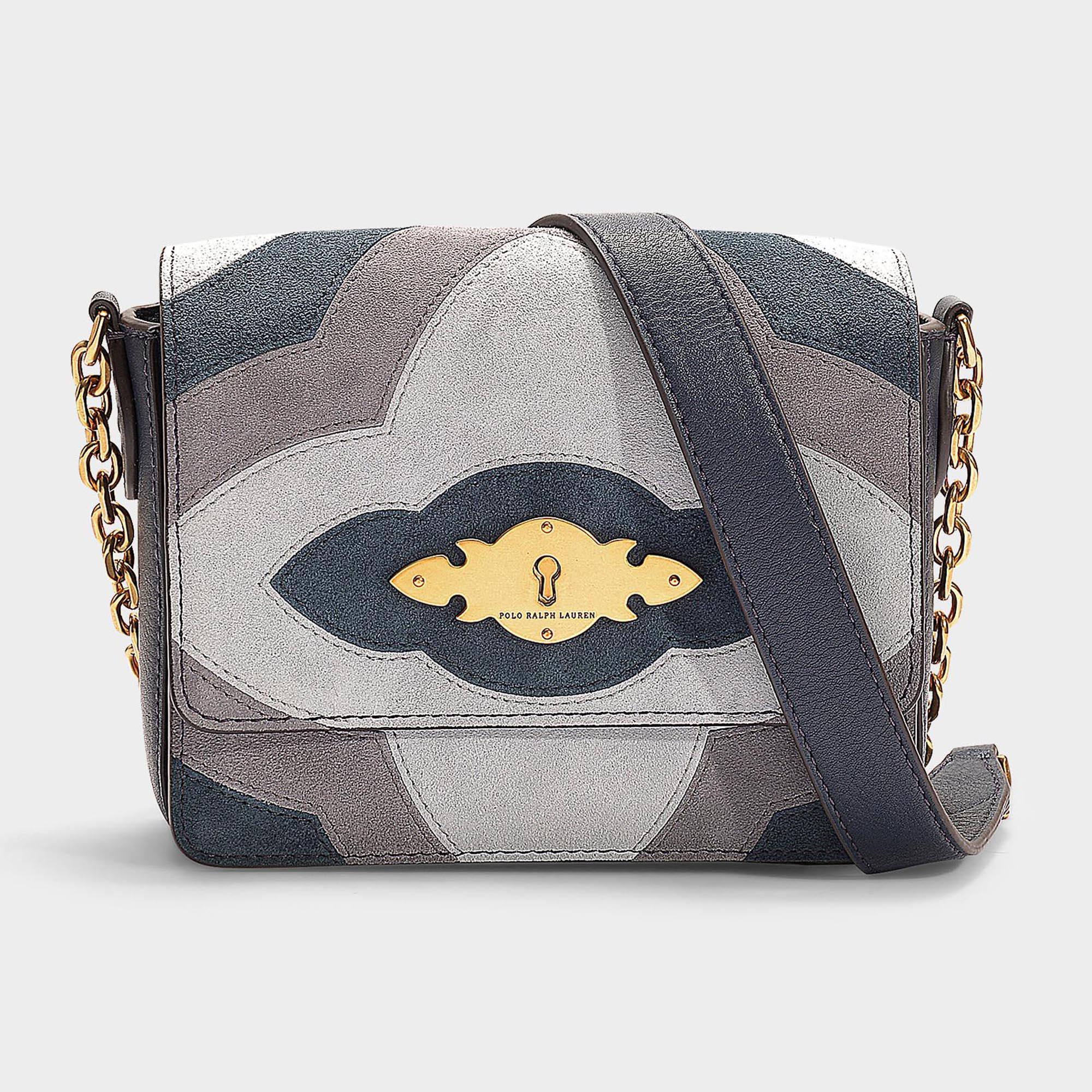 796b92a1dfbdd Lyst - Petit sac à main porté travers brooke en cuir de veau bleu ...