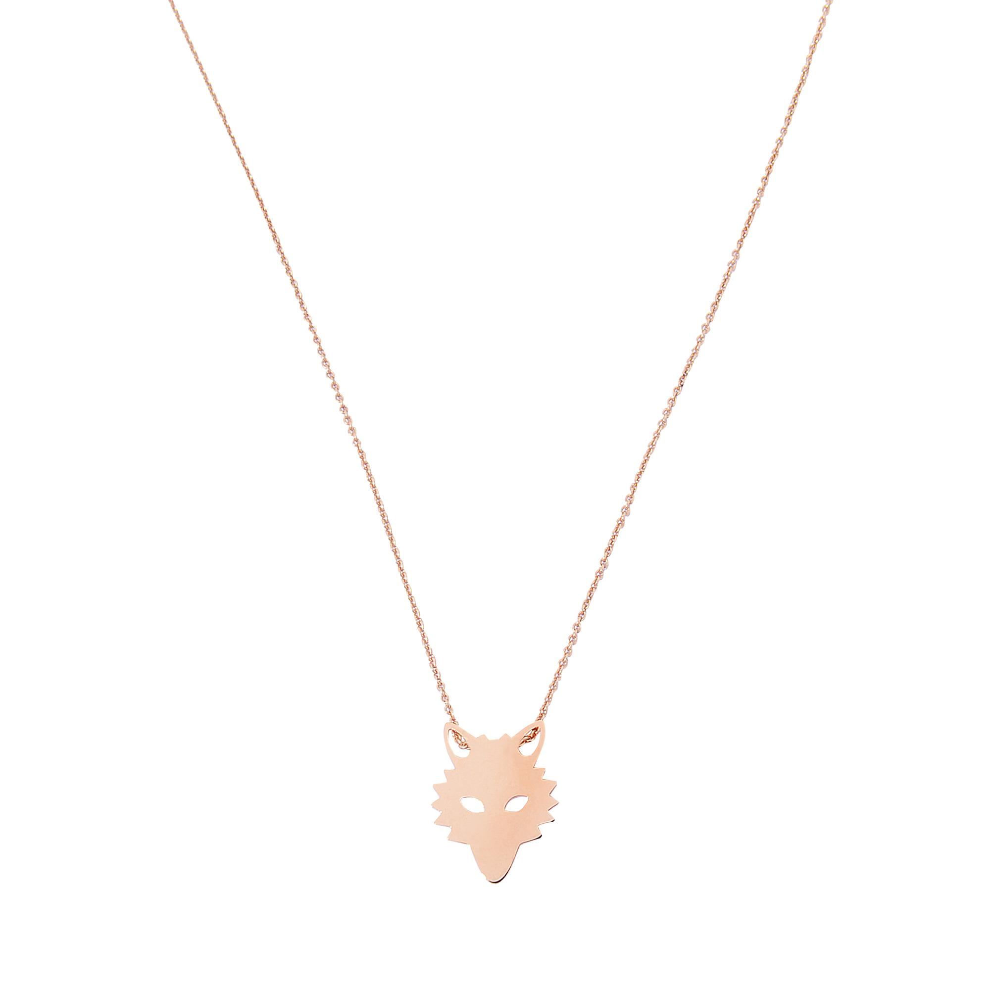 Ginette NY Mini Diamond Lotus 18-karat rose gold necklace