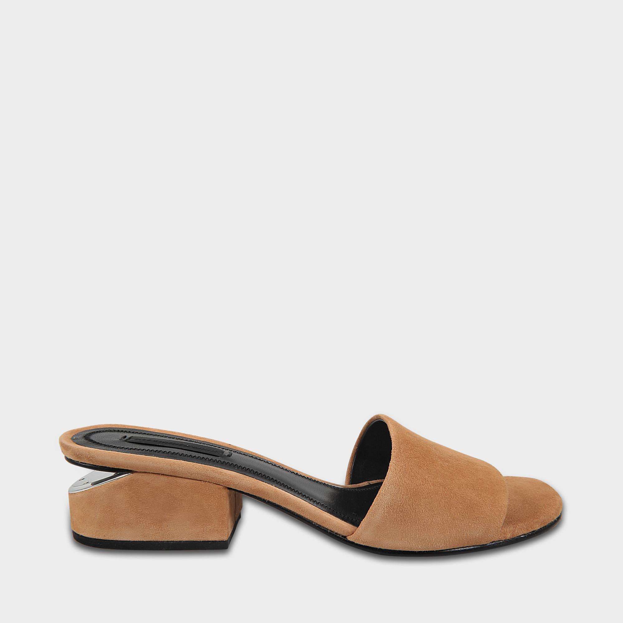 Lou Low Heel Sandals in Clay Goatskin Leather Alexander Wang jjBUa