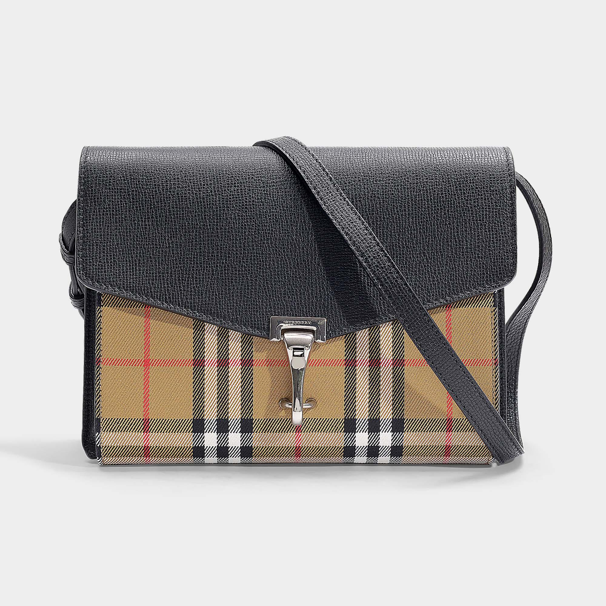 b5db3967b32d6 Burberry Kleine Handtasche The Macken aus Vintage Check Stoff und ...