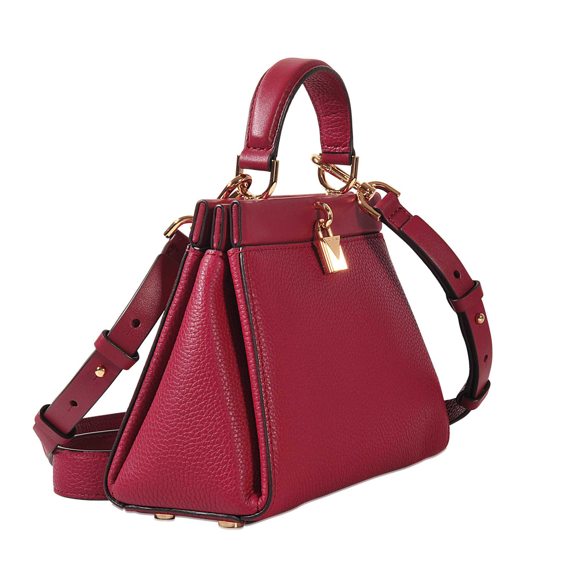 7749f701fa4a Lyst - MICHAEL Michael Kors Gramercy Frame Sm Th Satchel in Red