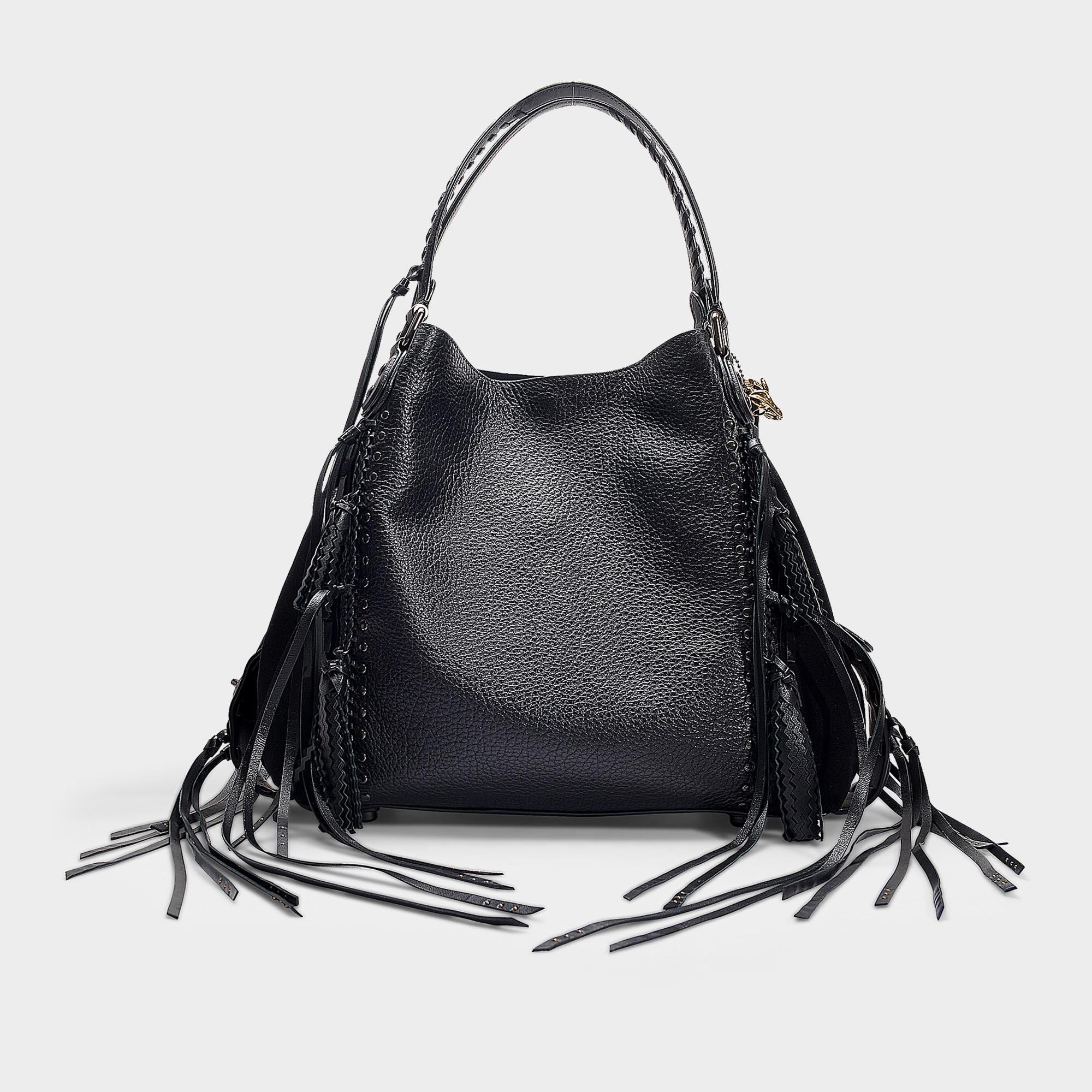2df37964ef59d ... wholesale coach edie 42 shoulder bag in black calfskin in black lyst  e4299 96fcc