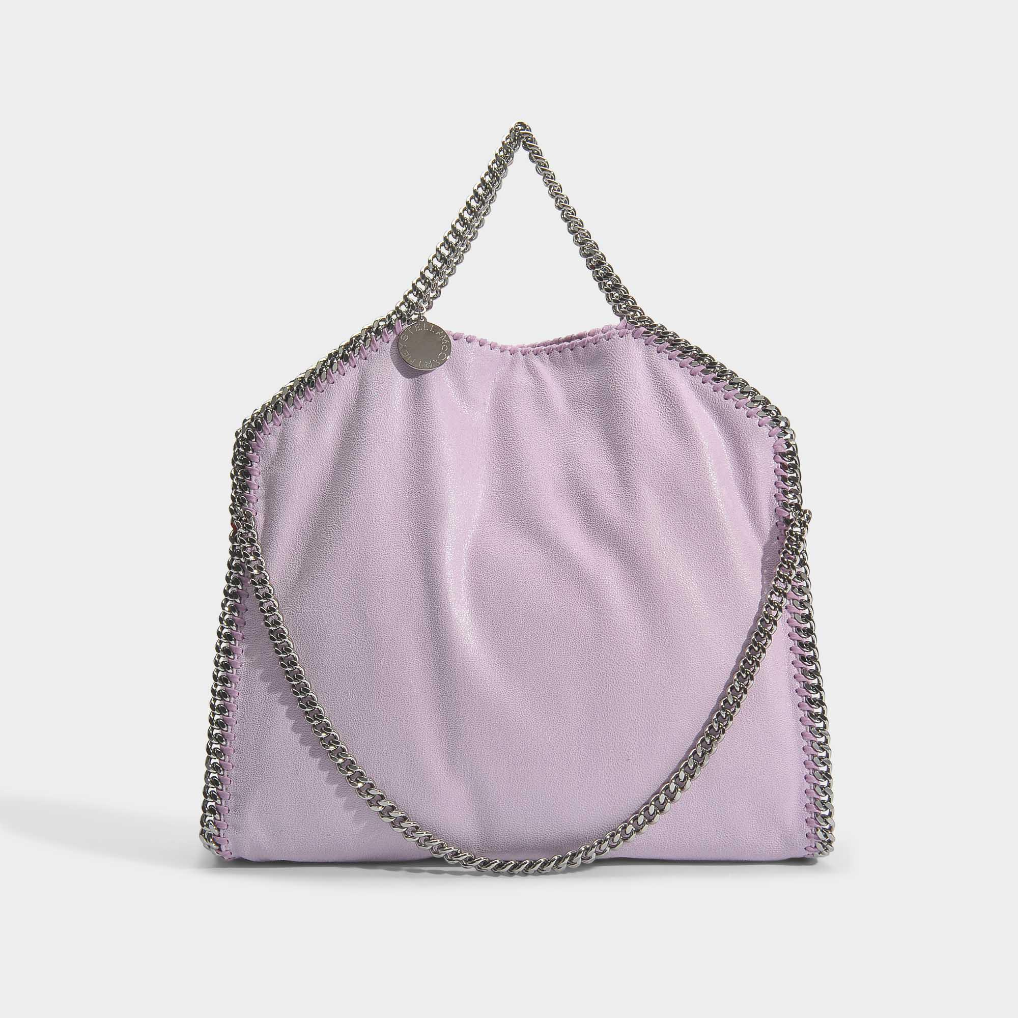 Lyst - Stella McCartney Shaggy Deer 3 Chain Falabella Bag In Lilac ... 03475cc752d55