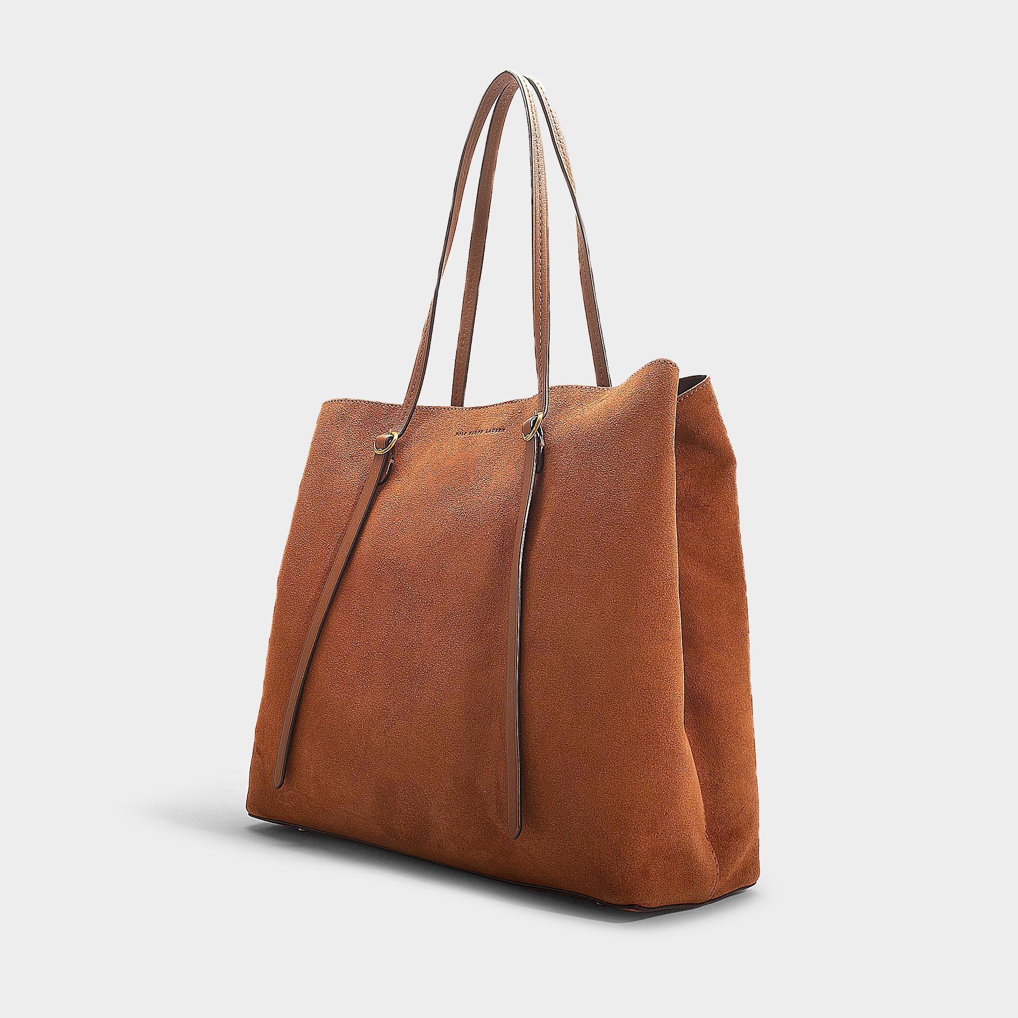 b27213b3c034 Lyst - Polo Ralph Lauren Big Lennox Tote Bag In Camel Calfskin in Brown