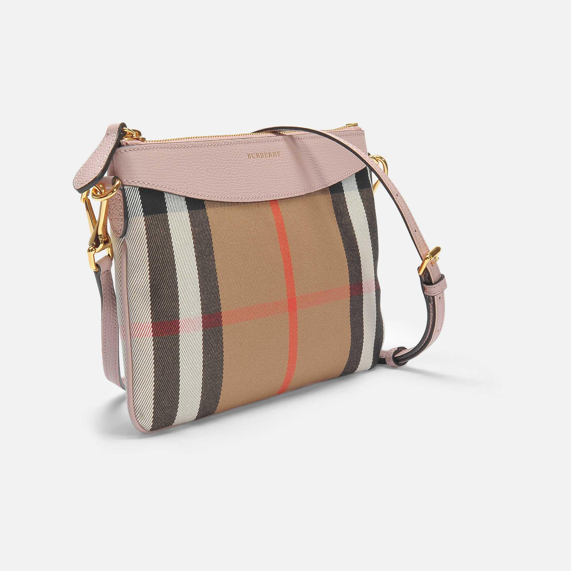 Peyton Pouch Bag in Pale Orchid Grained Calfskin Burberry uSaiflef