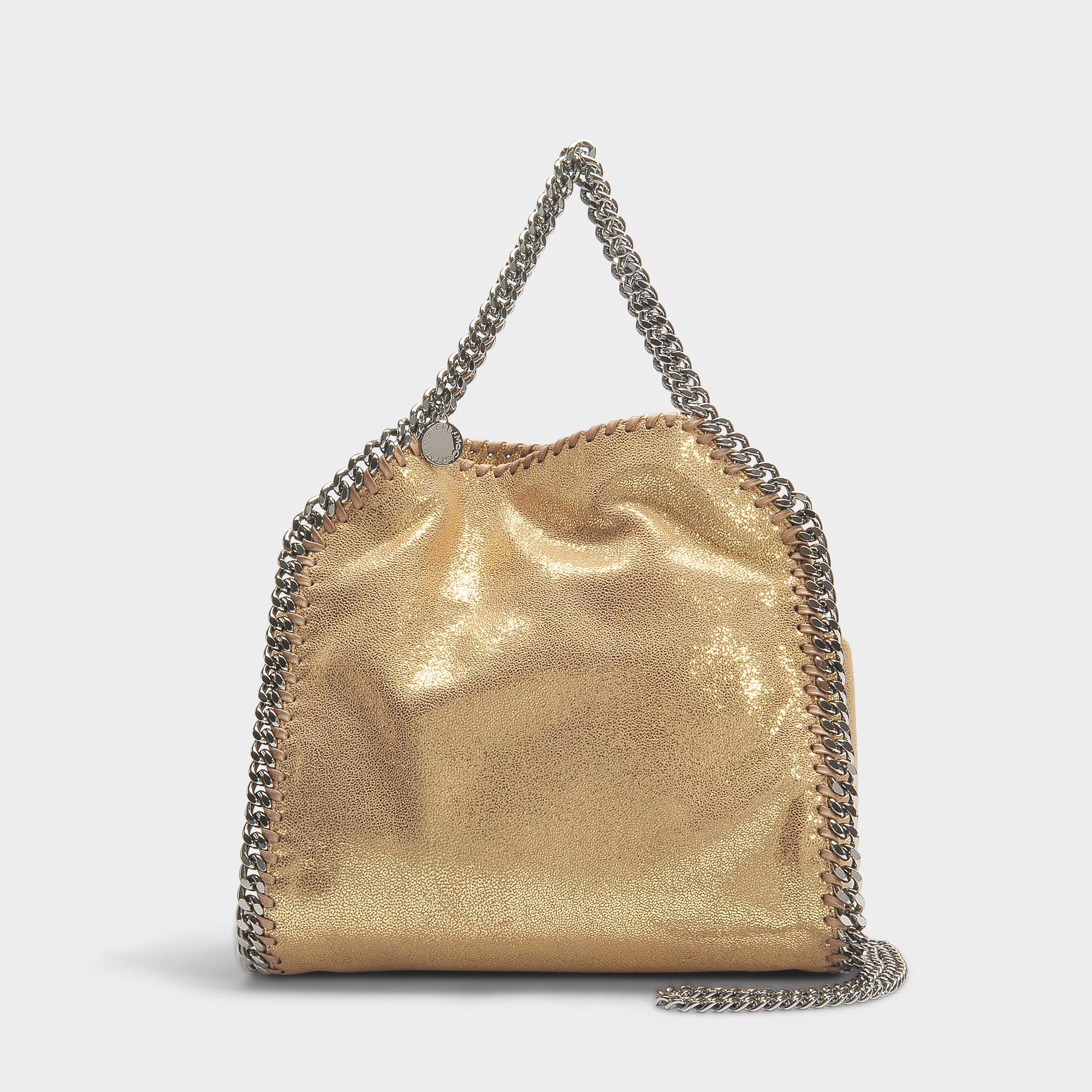 15d65af78db0 Lyst - Stella McCartney Mini Shiny Dotted Chamois Falabella Tote In ...