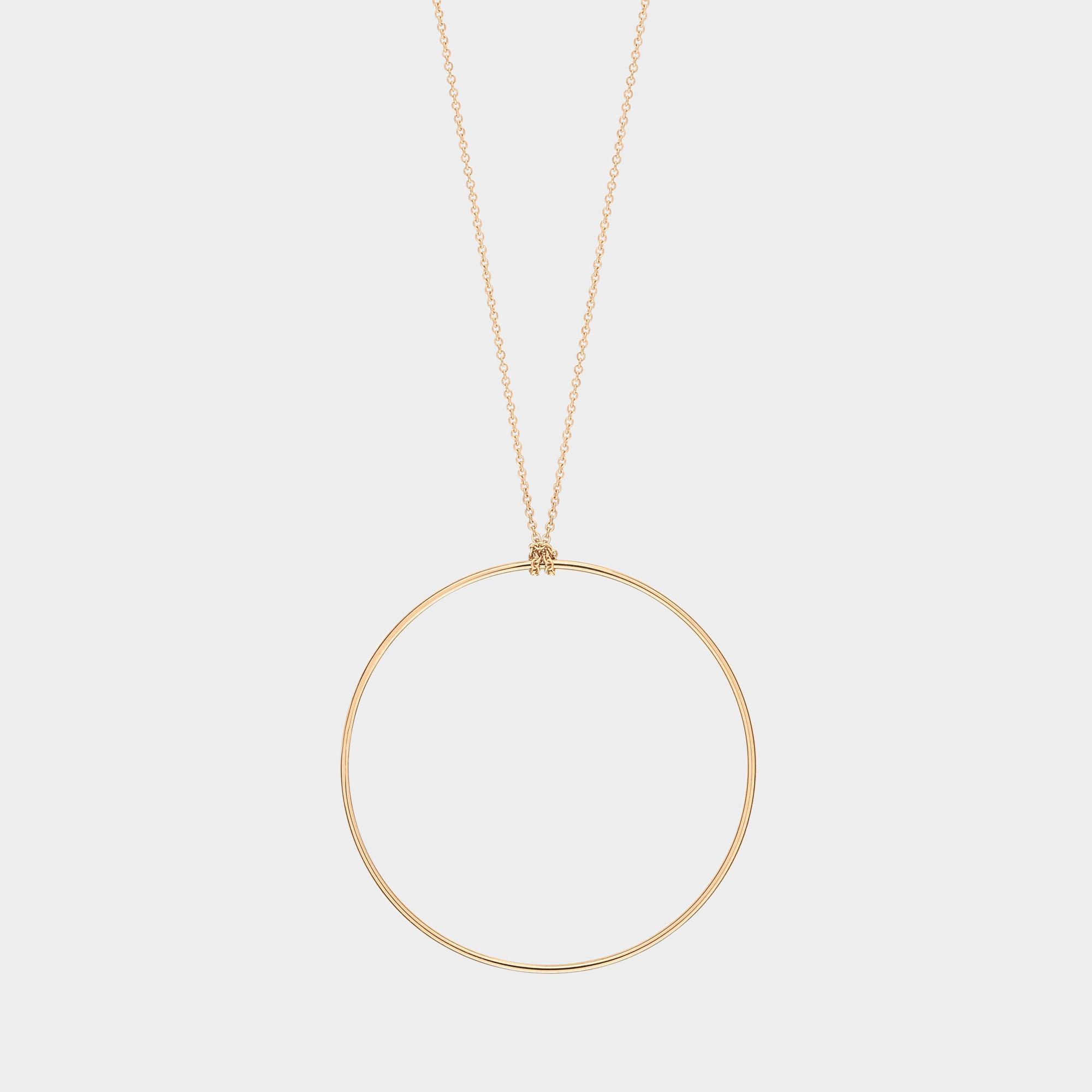 Mini Circle 18-karat rose gold necklace Ginette NY xWxshC