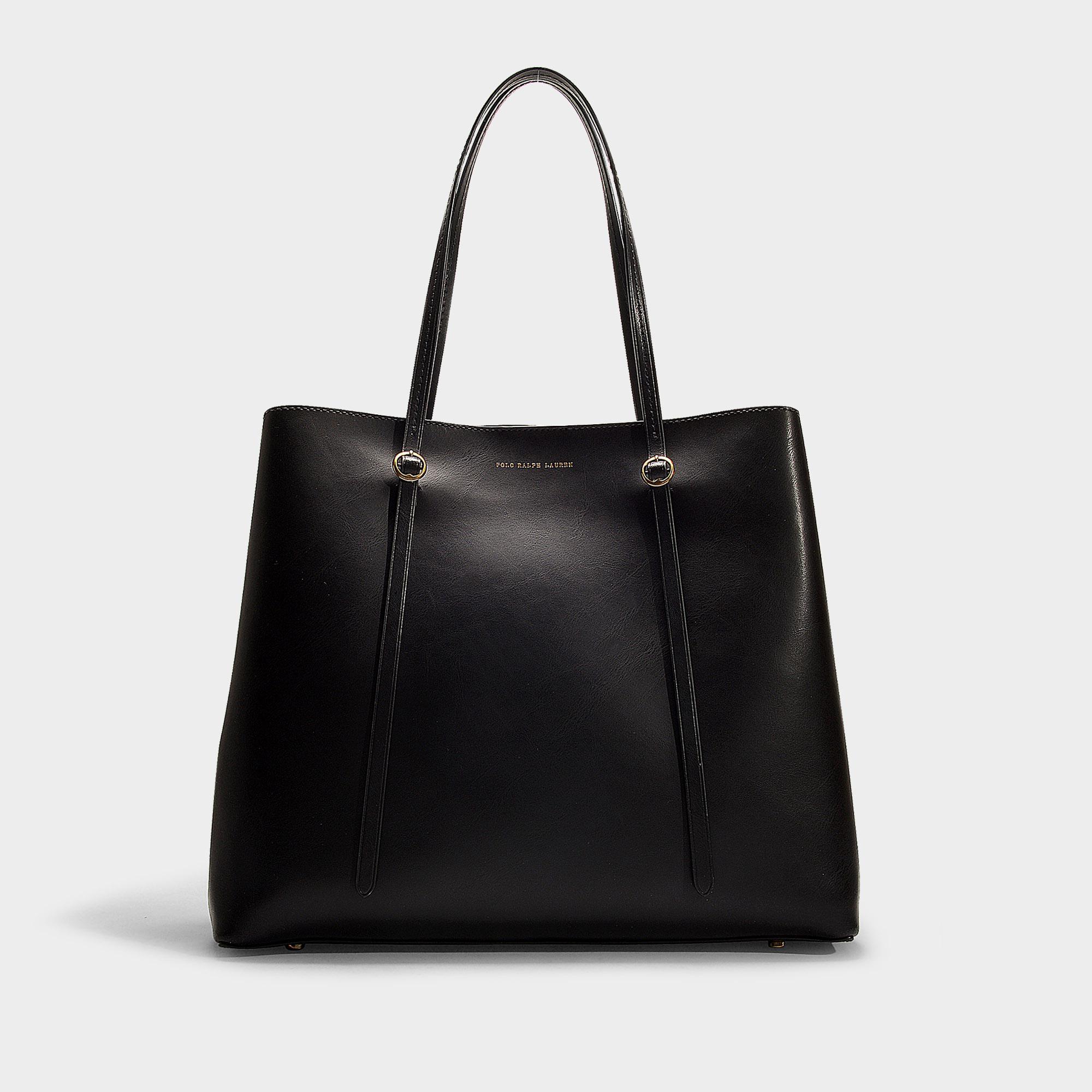 47bf211b07c2 Polo Ralph Lauren Big Lennox Tote Bag In Black Calfskin in Black ...