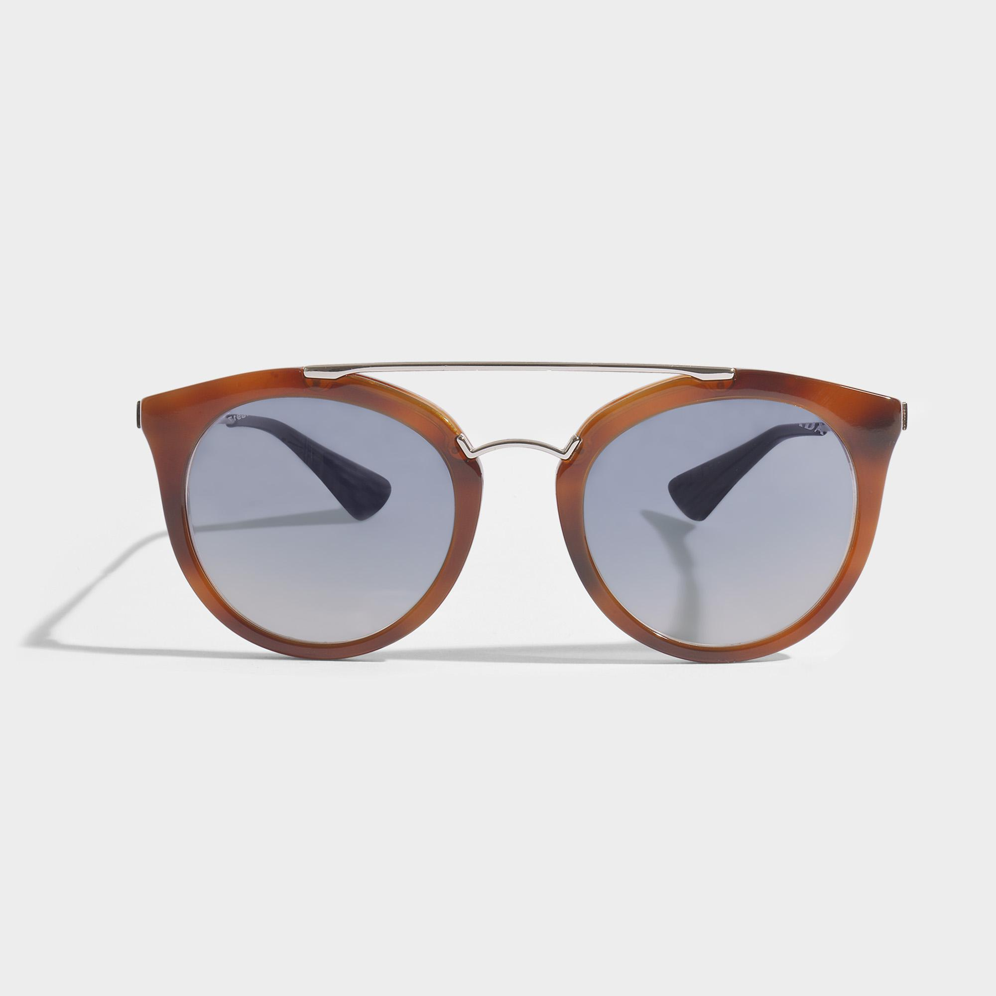 271271bb83 Lyst - Prada 0pr 23ss Sunglasses In Brown Acetate in Brown
